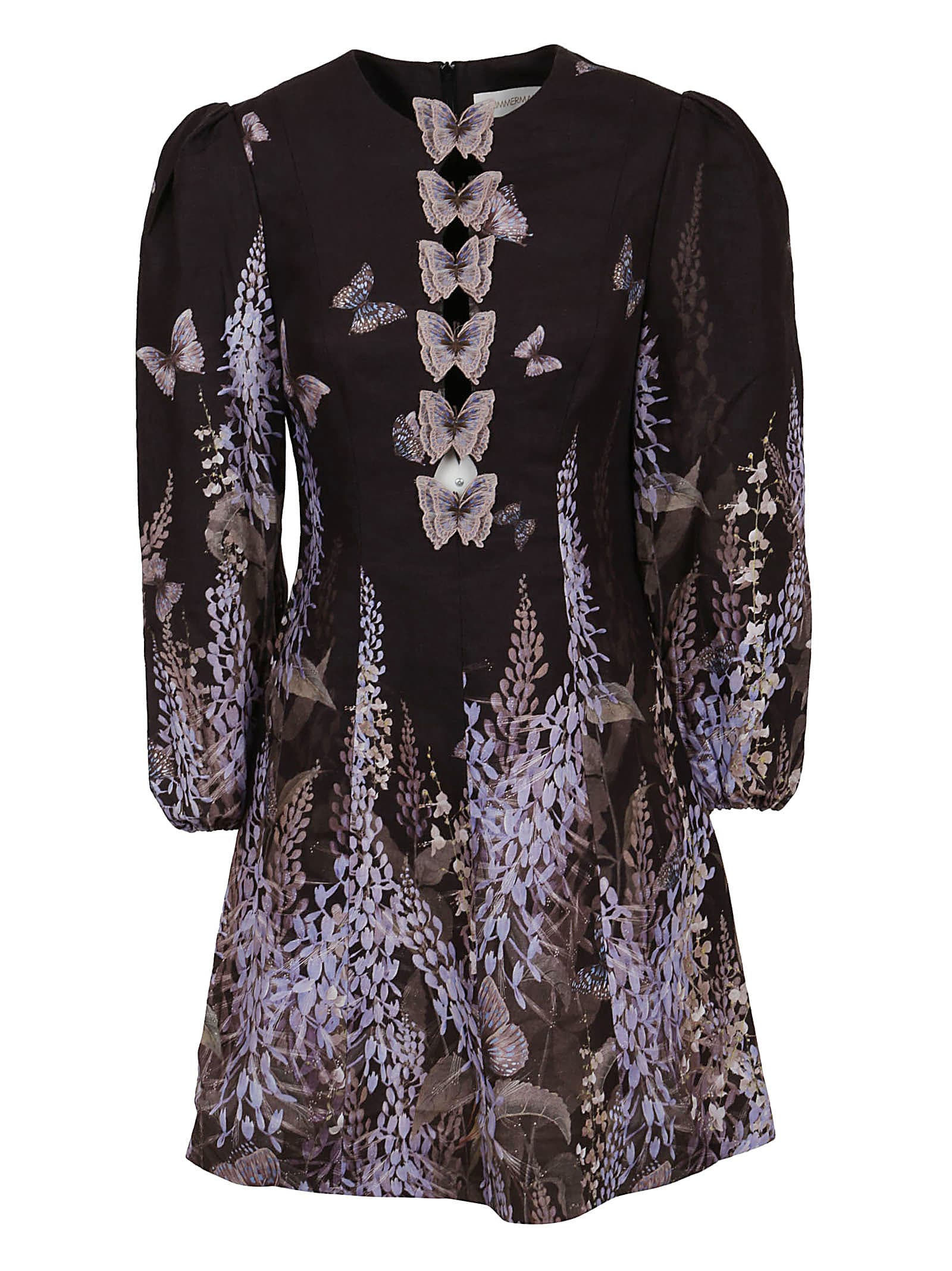 Buy Botanica Butterfly Mini Dress online, shop Zimmermann with free shipping