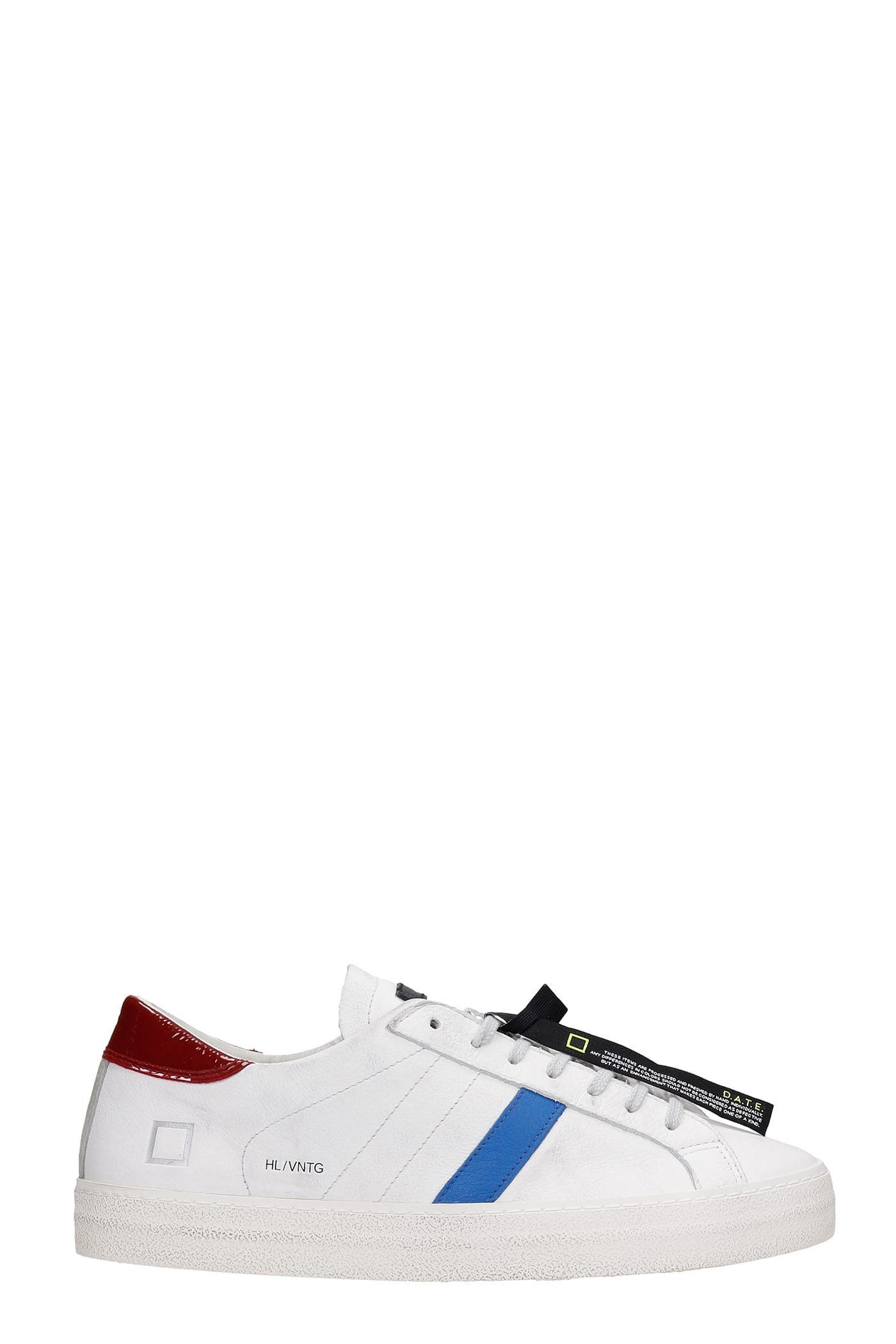D.a.t.e. Leathers HILL LOW SNEAKERS IN WHITE LEATHER