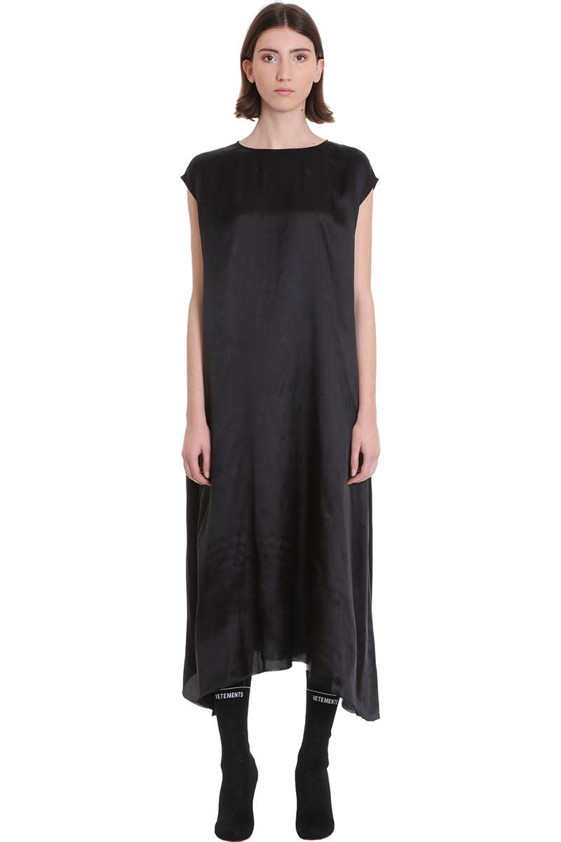 Buy VETEMENTS Dress In Black Viscose online, shop VETEMENTS with free shipping