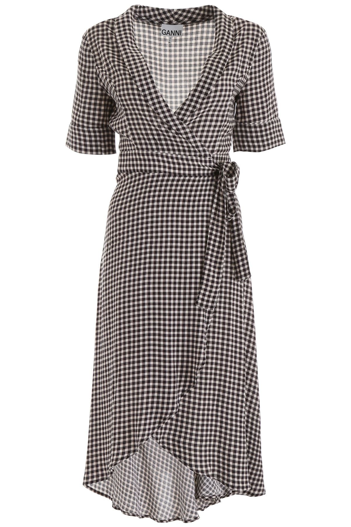 Ganni Vichy Wrap Dress