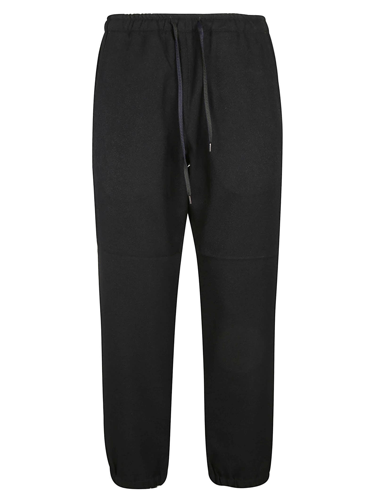 Plain Cropped Track Pants