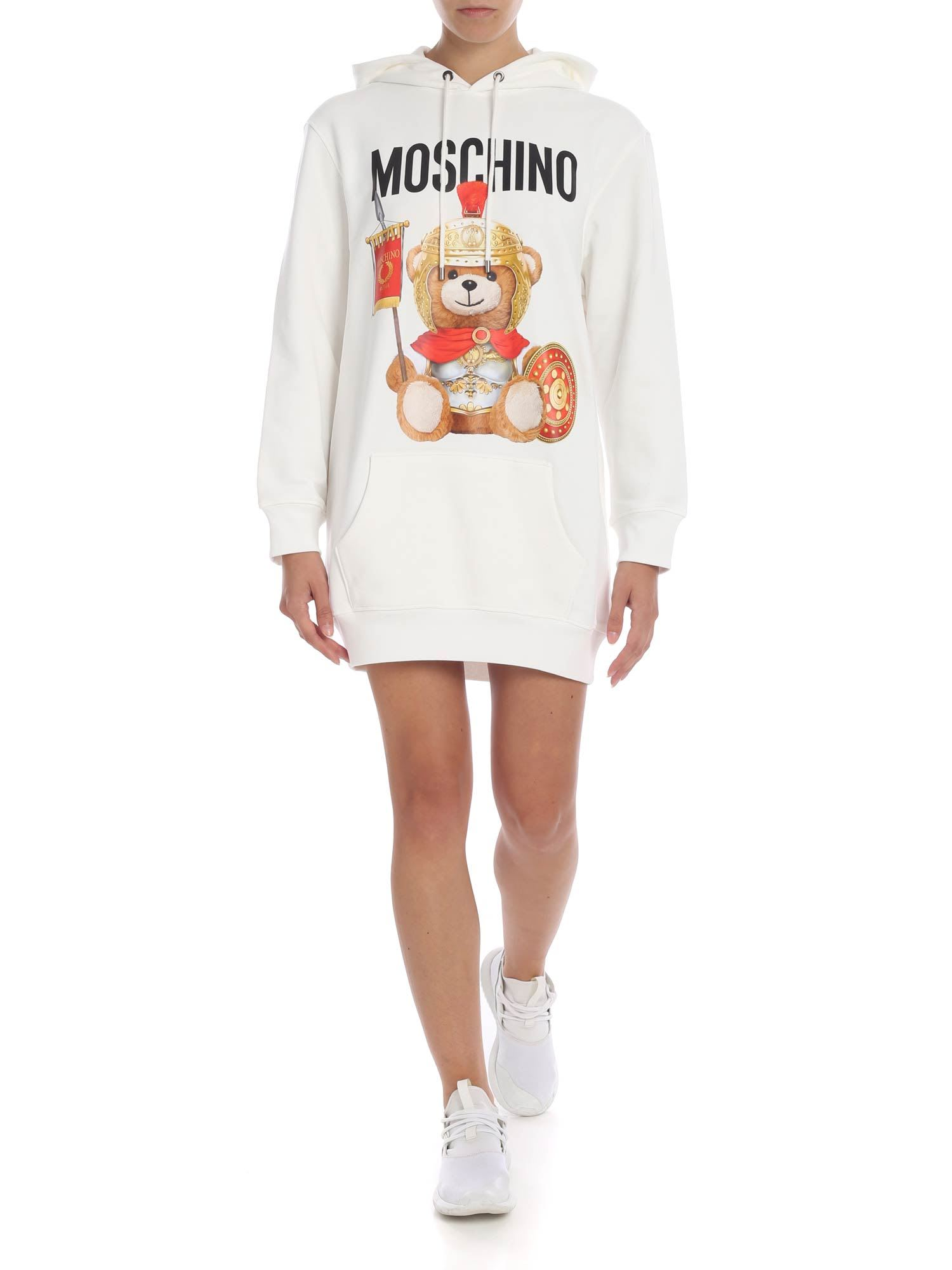 Photo of  Moschino Teddy Hoodie Dress- shop Moschino  online sales