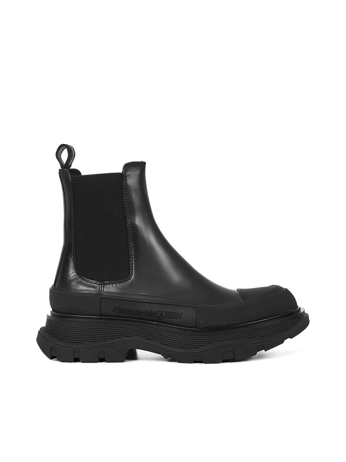 Buy Alexander McQueen Boot Rubber Sole online, shop Alexander McQueen shoes with free shipping