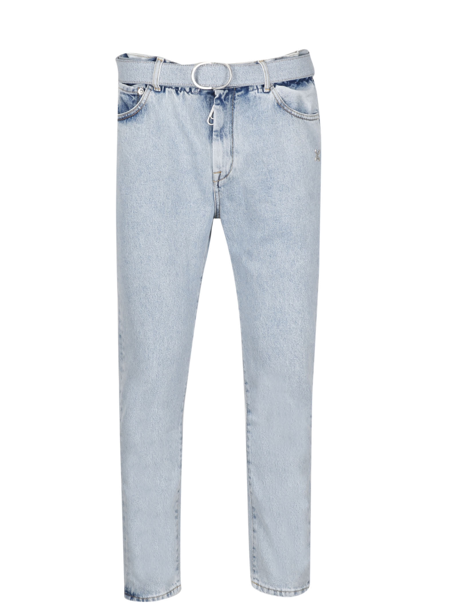 Off-White Slim Low Crotch Bleach Jeans