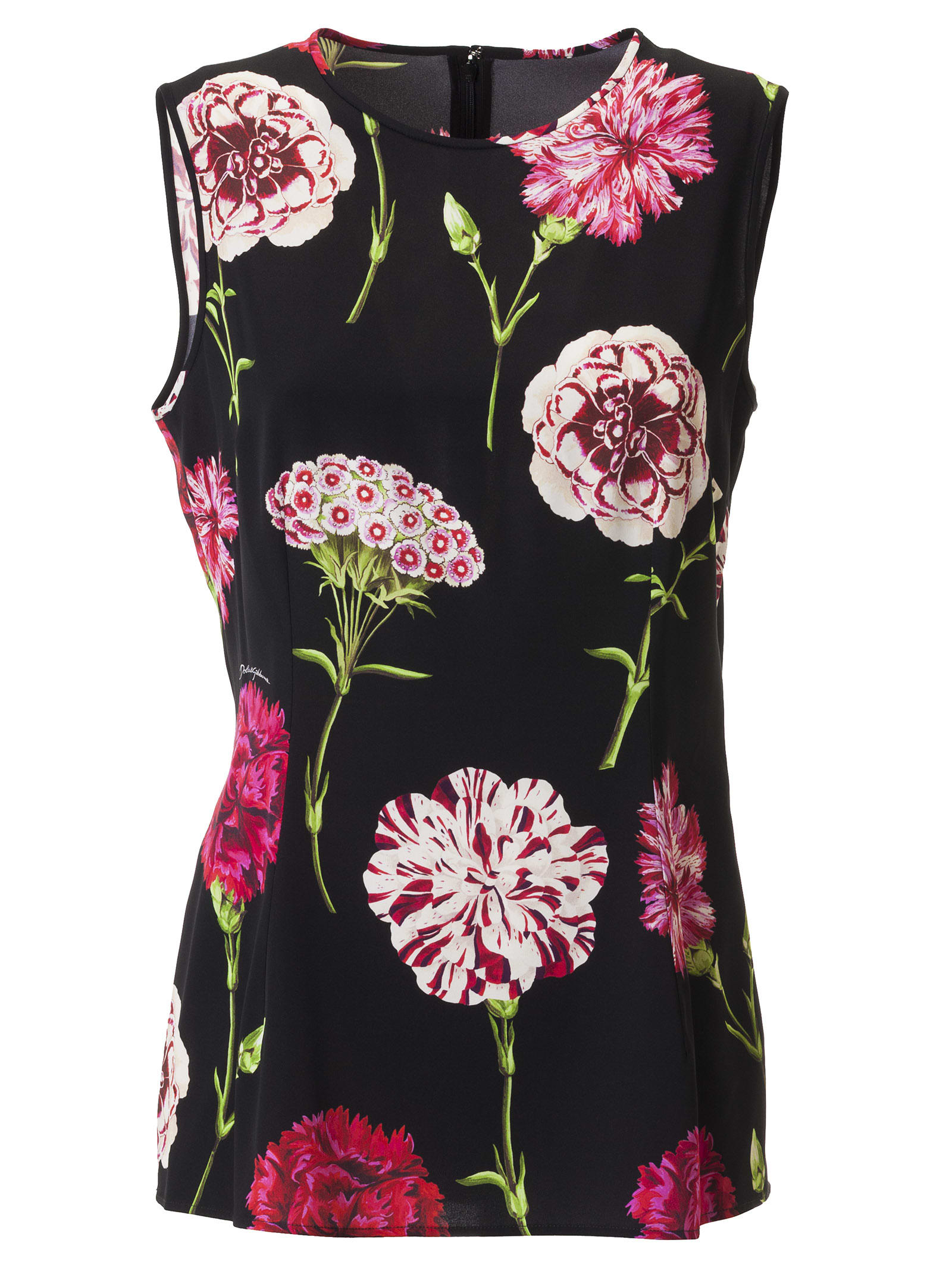 Dolce & Gabbana Floral Print Sleeveless Dress