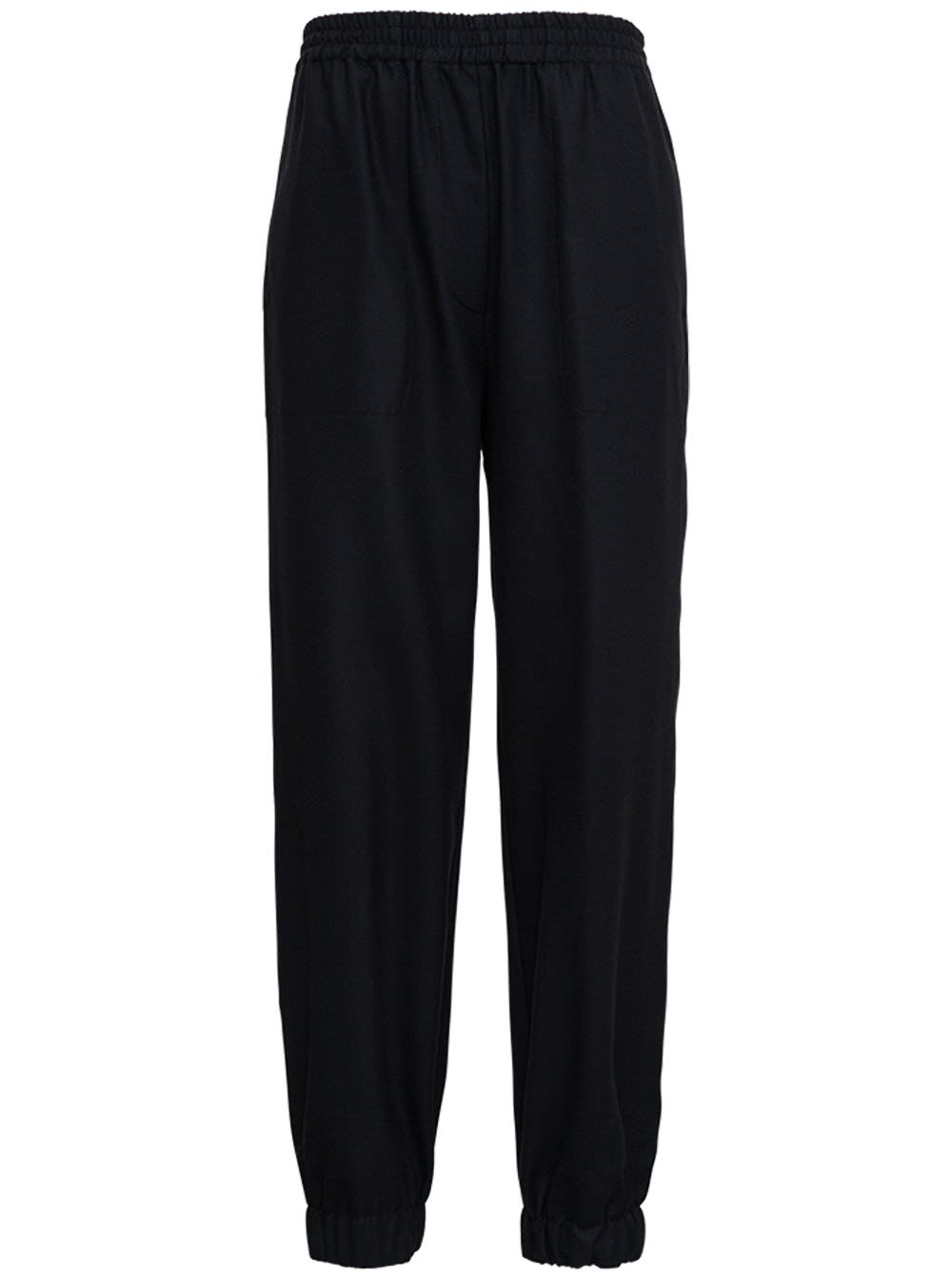 Jucca Black Stretch Wool Pants