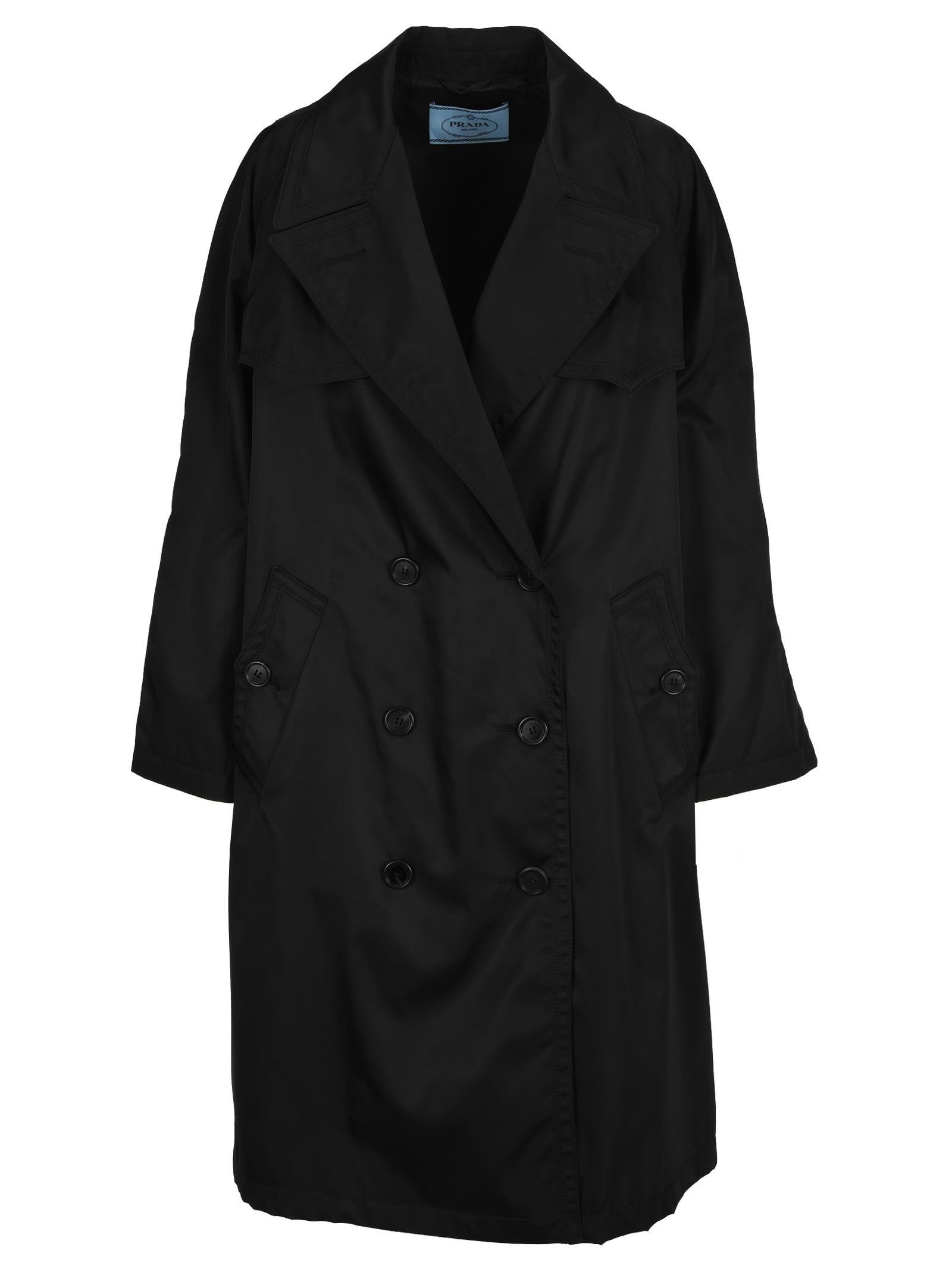 Photo of  Prada Prada Double-breasted Trench- shop Prada jackets online sales