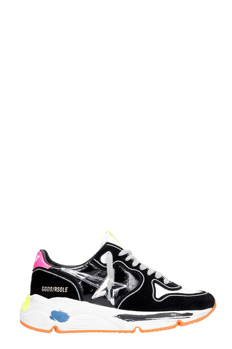 Golden Goose RUNNING SNEAKERS IN BLACK SUEDE AND FABRIC