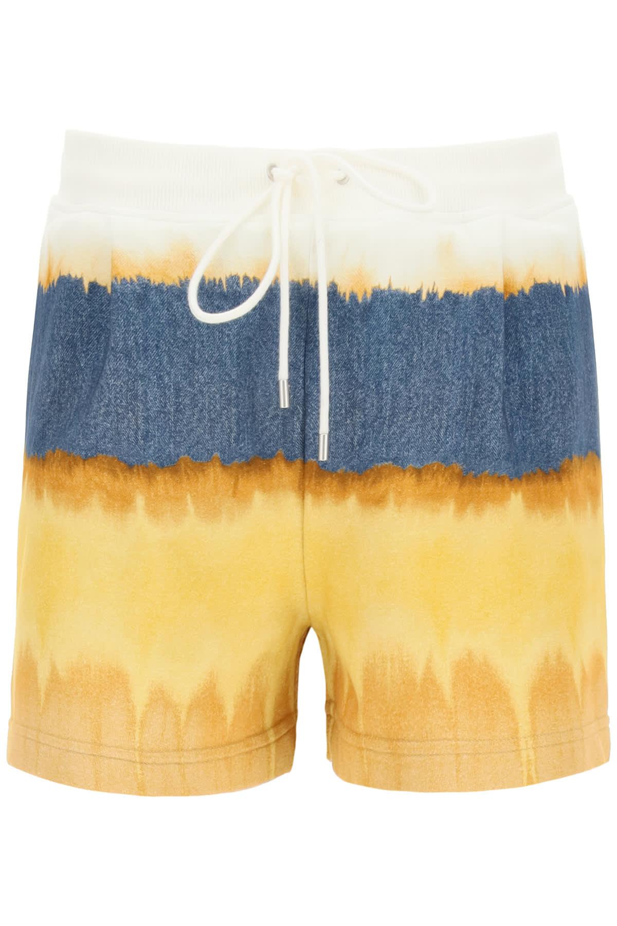 Alberta Ferretti Shorts I LOVE SUMMER TIE-DYE JERSEY SHORTS