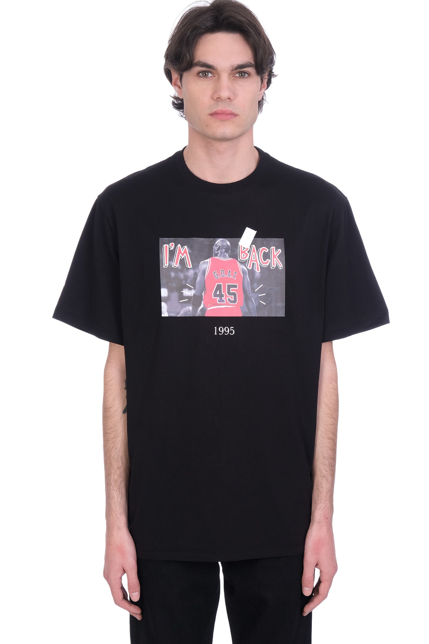 Throwback Cottons T-SHIRT IN BLACK COTTON