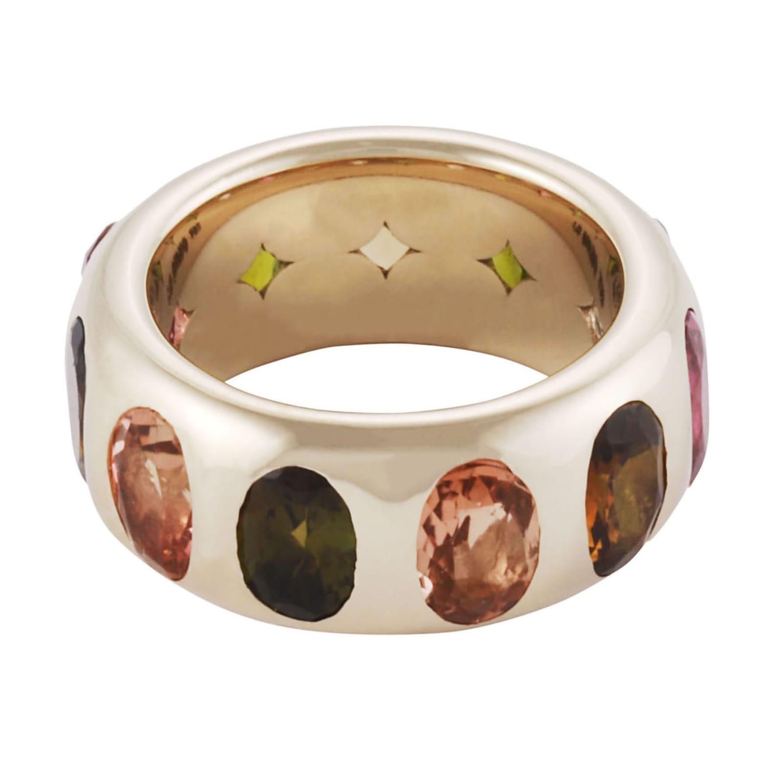 Lo Spazio Multi Colored Tourmaline Ring