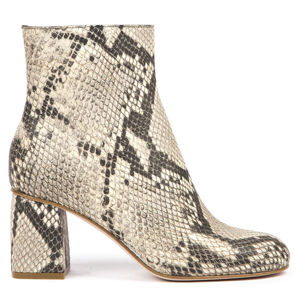 RED Valentino Snakeskin-effect Rock Color Leather Ankle Boots