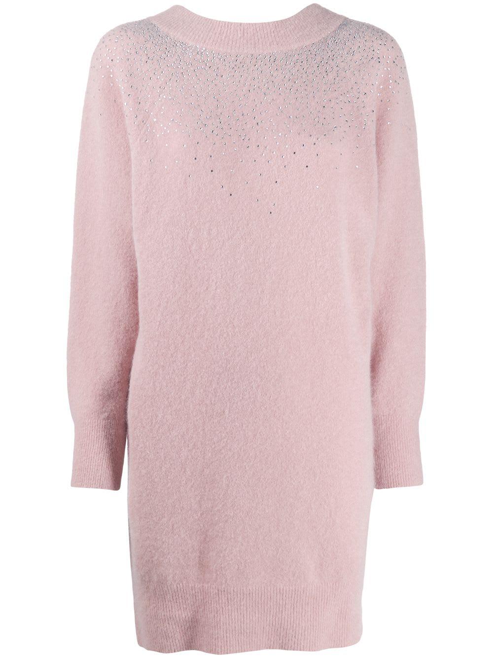Blumarine Strass Knitted Dress