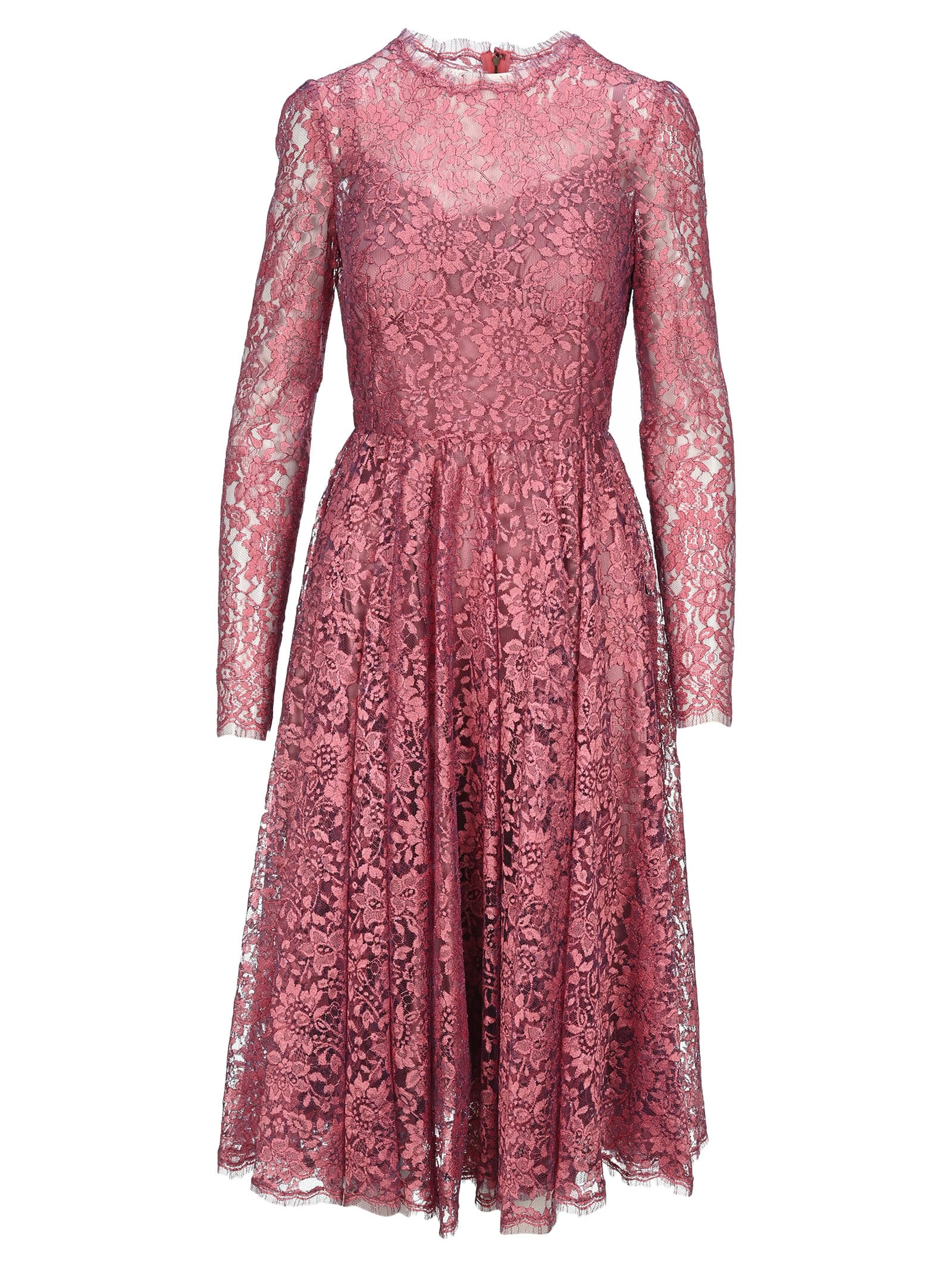Buy Dolce & gabbana Chantilly Lamé Lace Midi Dress online, shop Dolce & Gabbana with free shipping