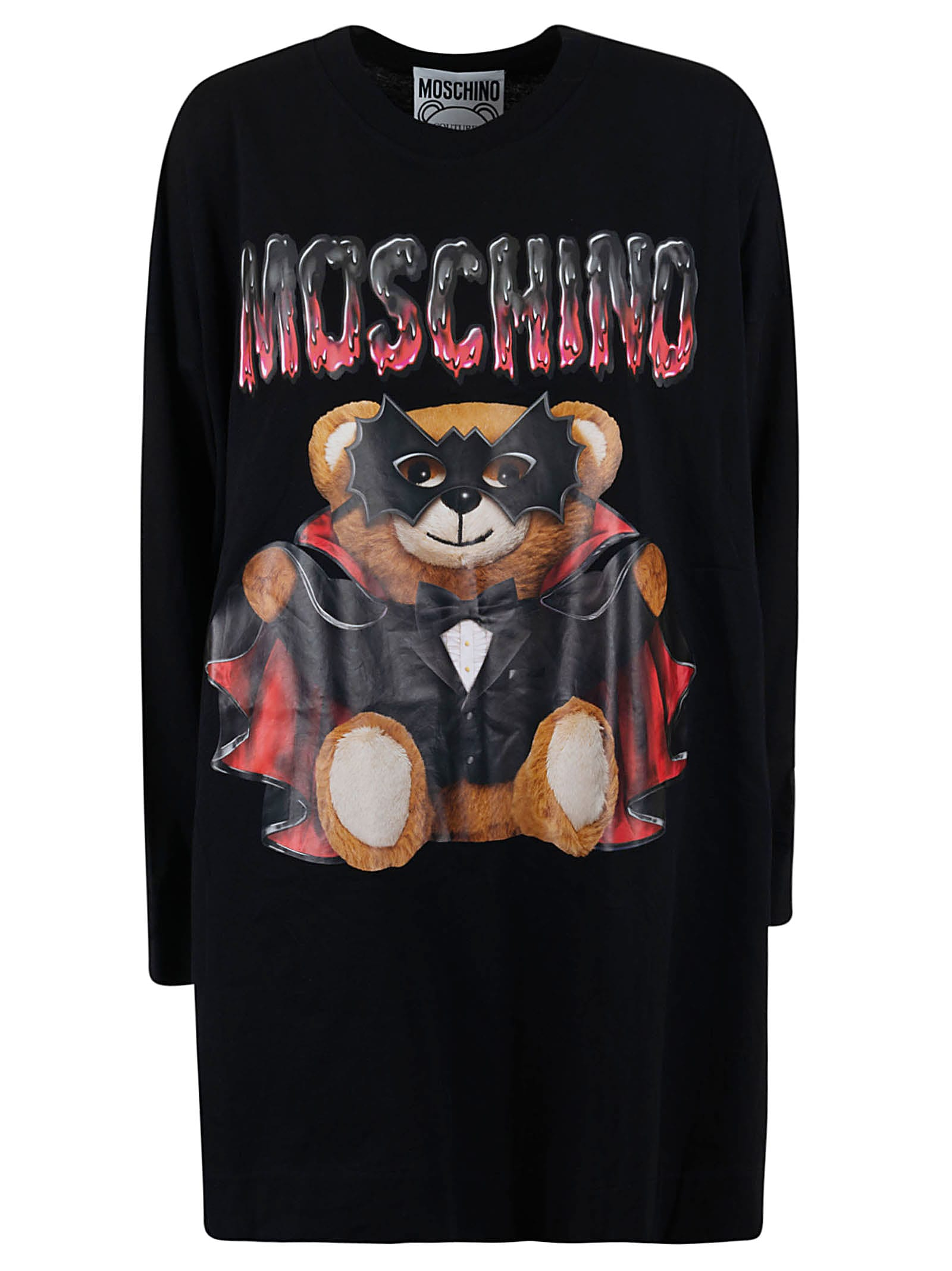 Buy Moschino Teddy Bat Printed Oversized Dress online, shop Moschino with free shipping