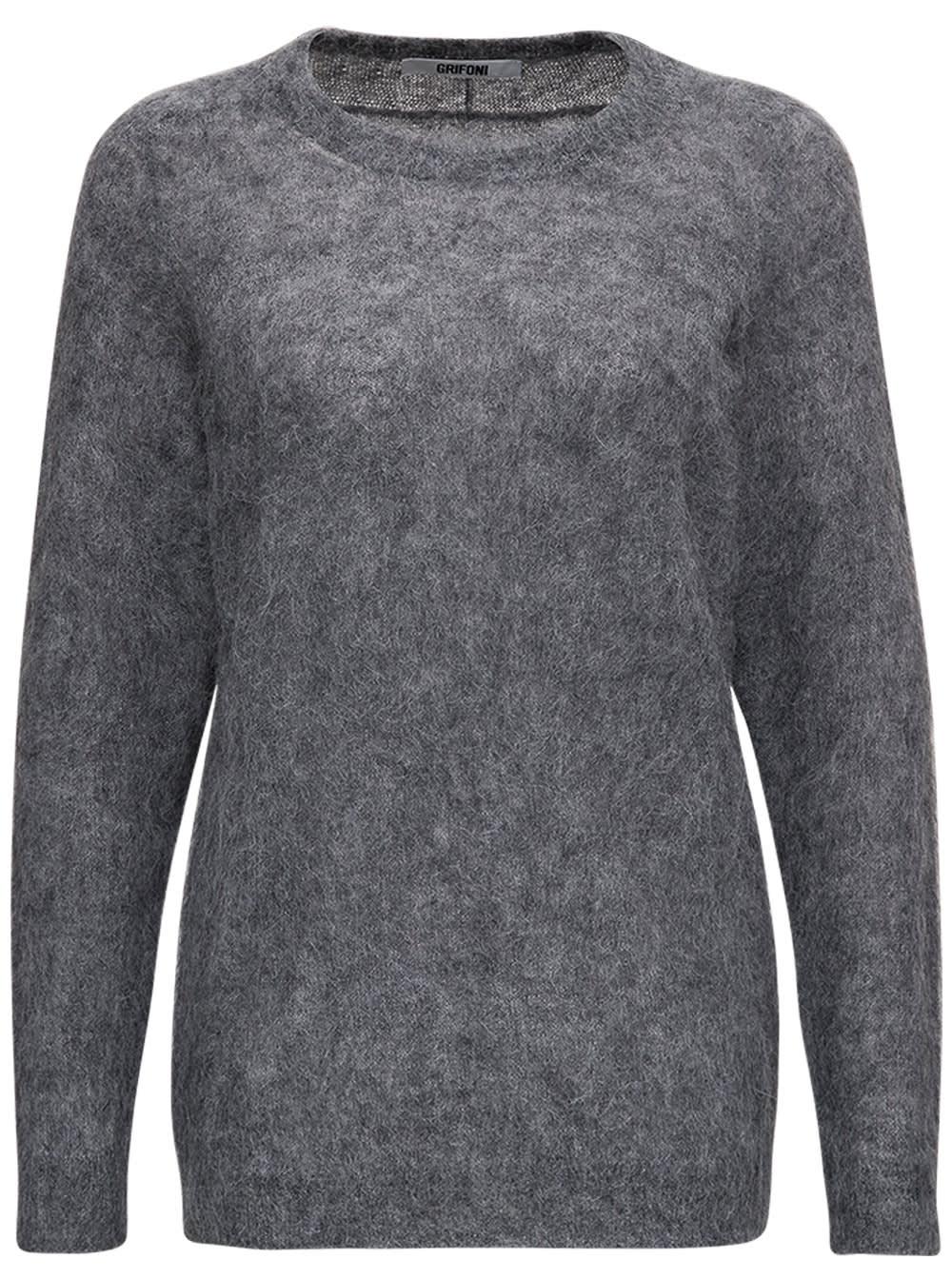 Grey Mohair Sweater