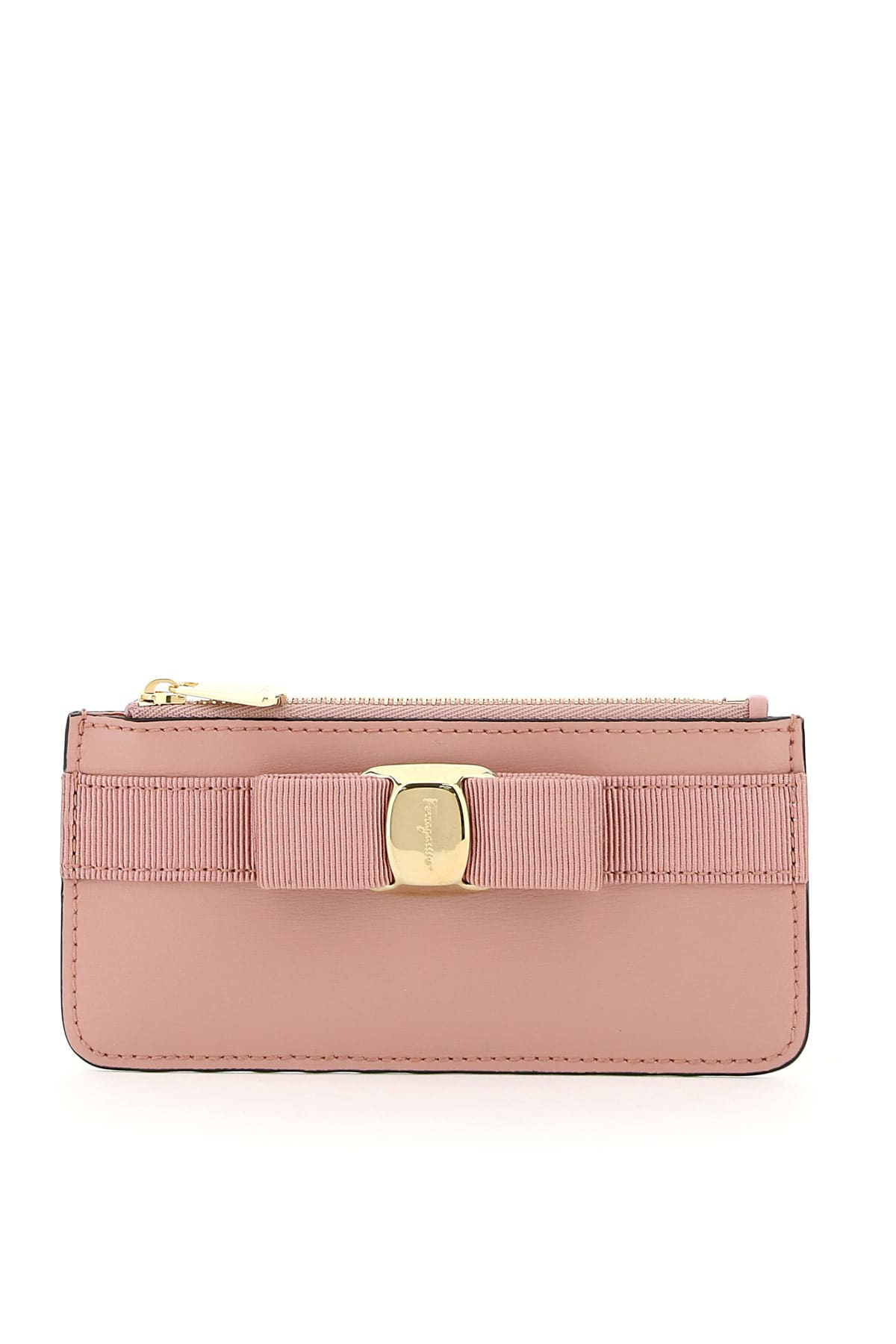 Salvatore Ferragamo CARDHOLDER POUCH WITH VARA BOW