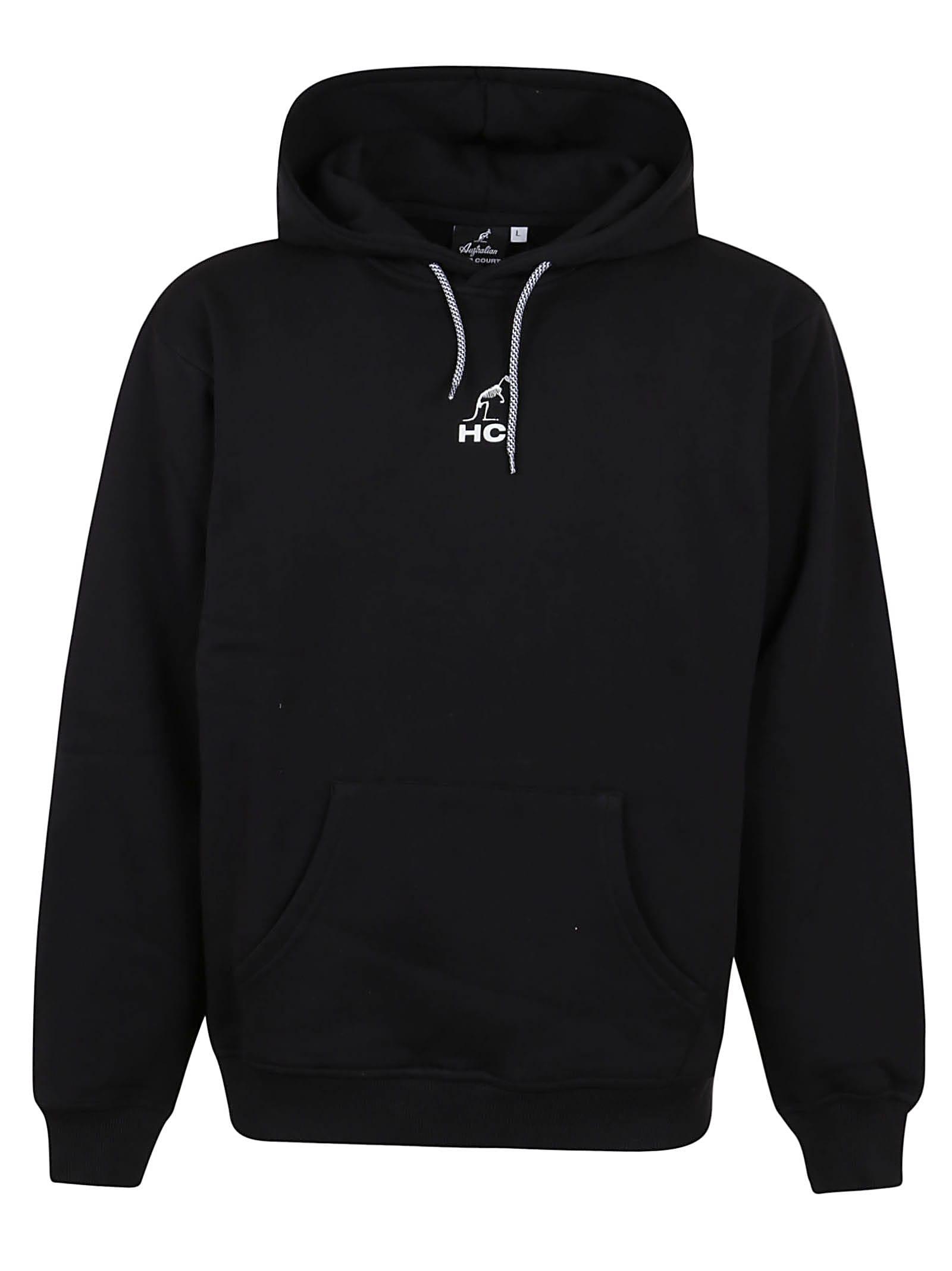 Hooded Sweatshirt With Bones Luminol Print
