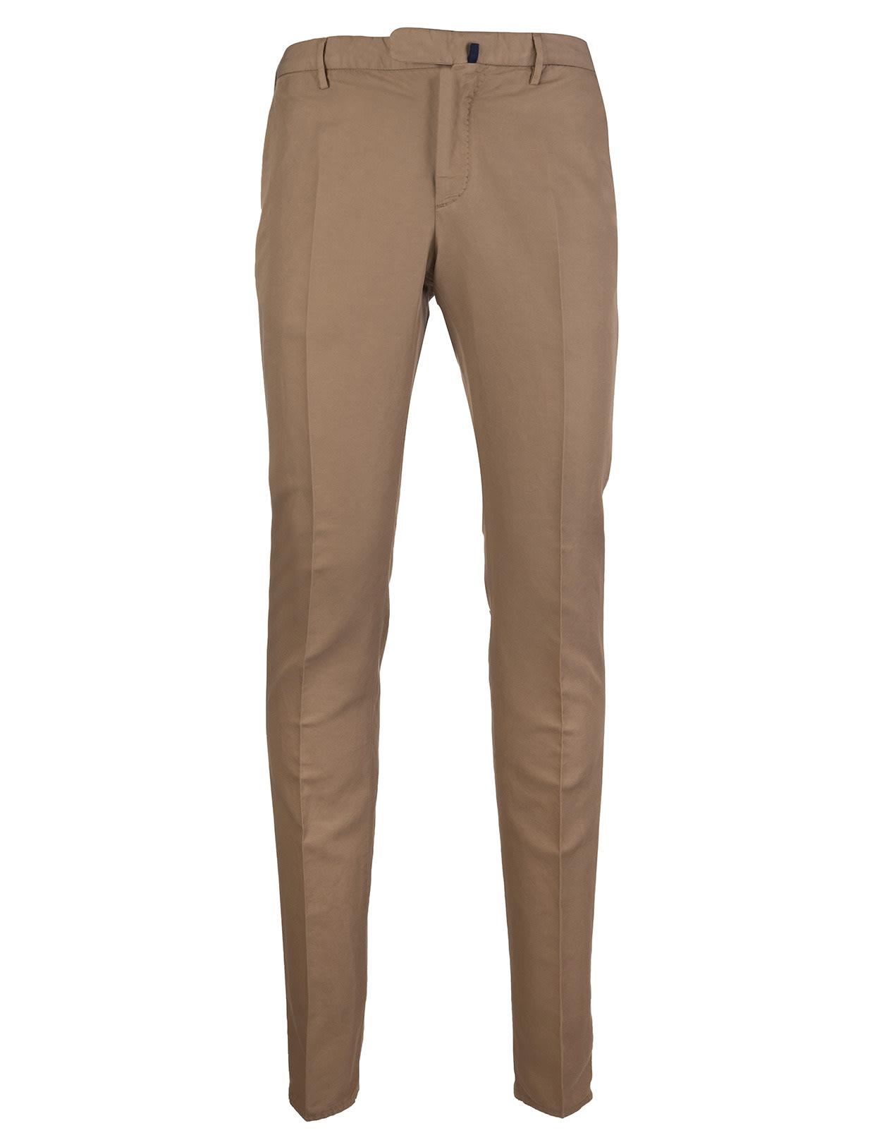 Dark Beige Cotton And Linen Venezia 1951 Pants