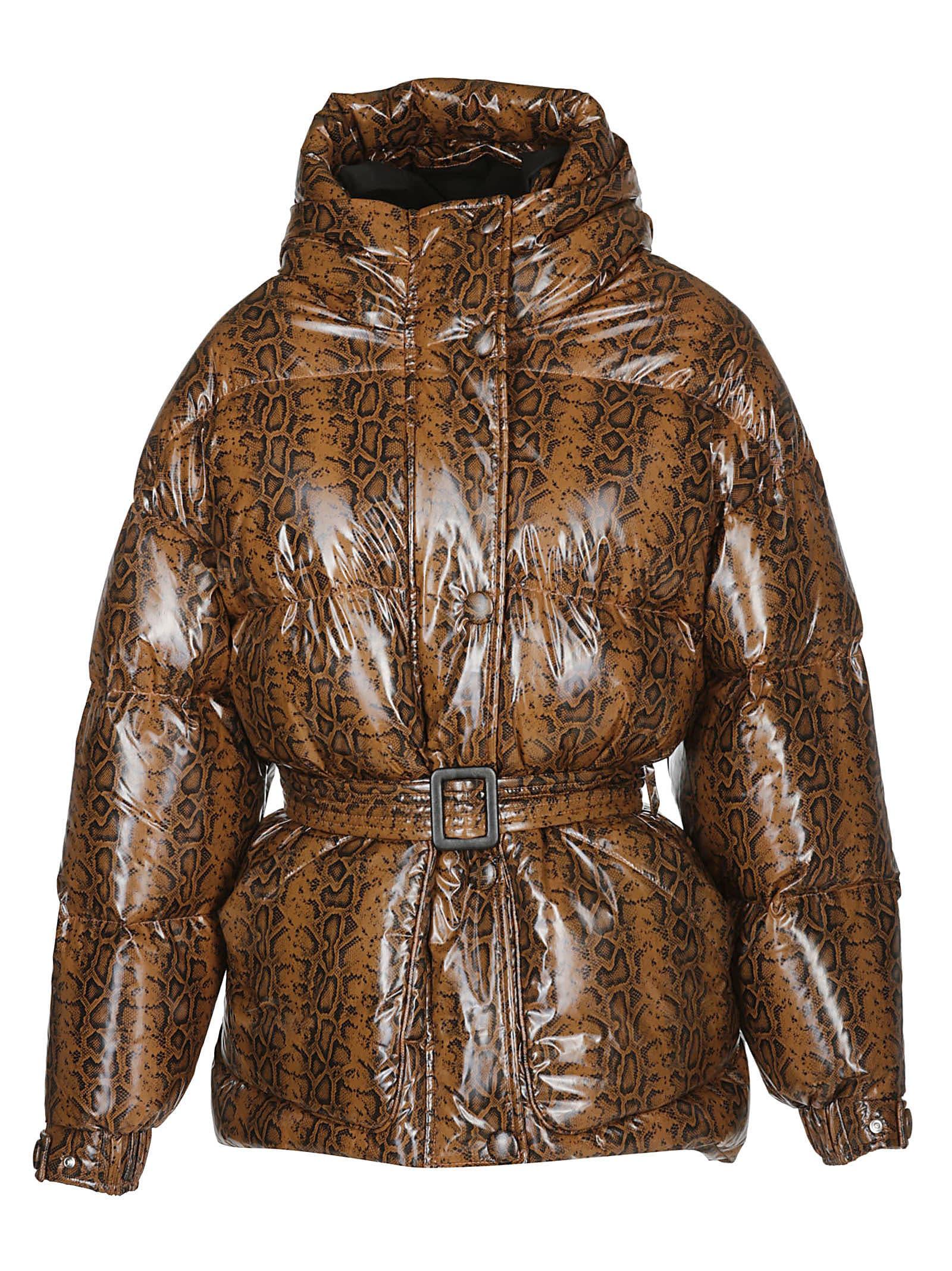 IENKI IENKI Snake-effect Puffer Jacket