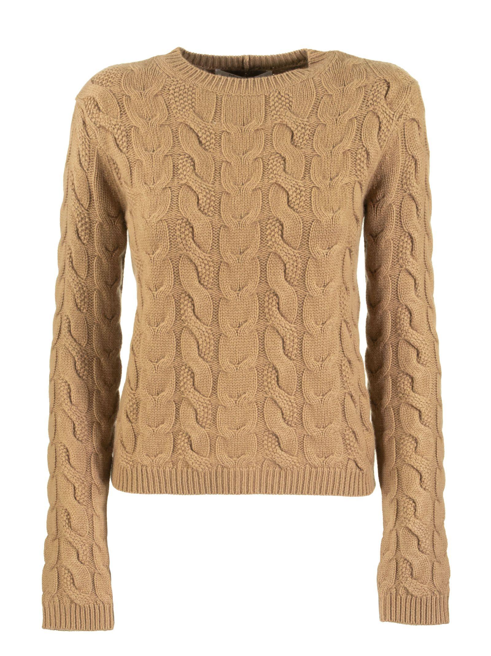 Max Mara Nettuno Wool And Cashmere Yarn Jumper