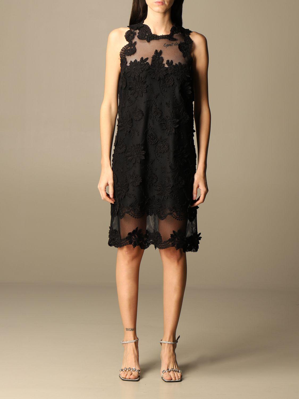 Buy Ermanno Scervino Dress Ermanno Scervino Short Lace Dress online, shop Ermanno Scervino with free shipping