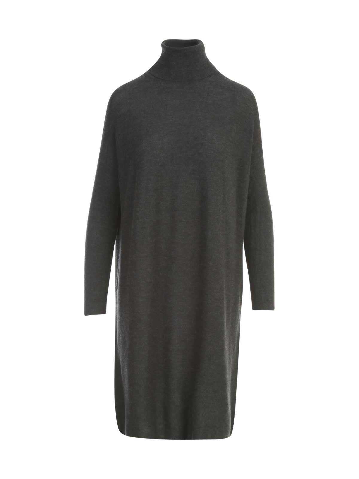 Straight Turtle Neck L/s Dress