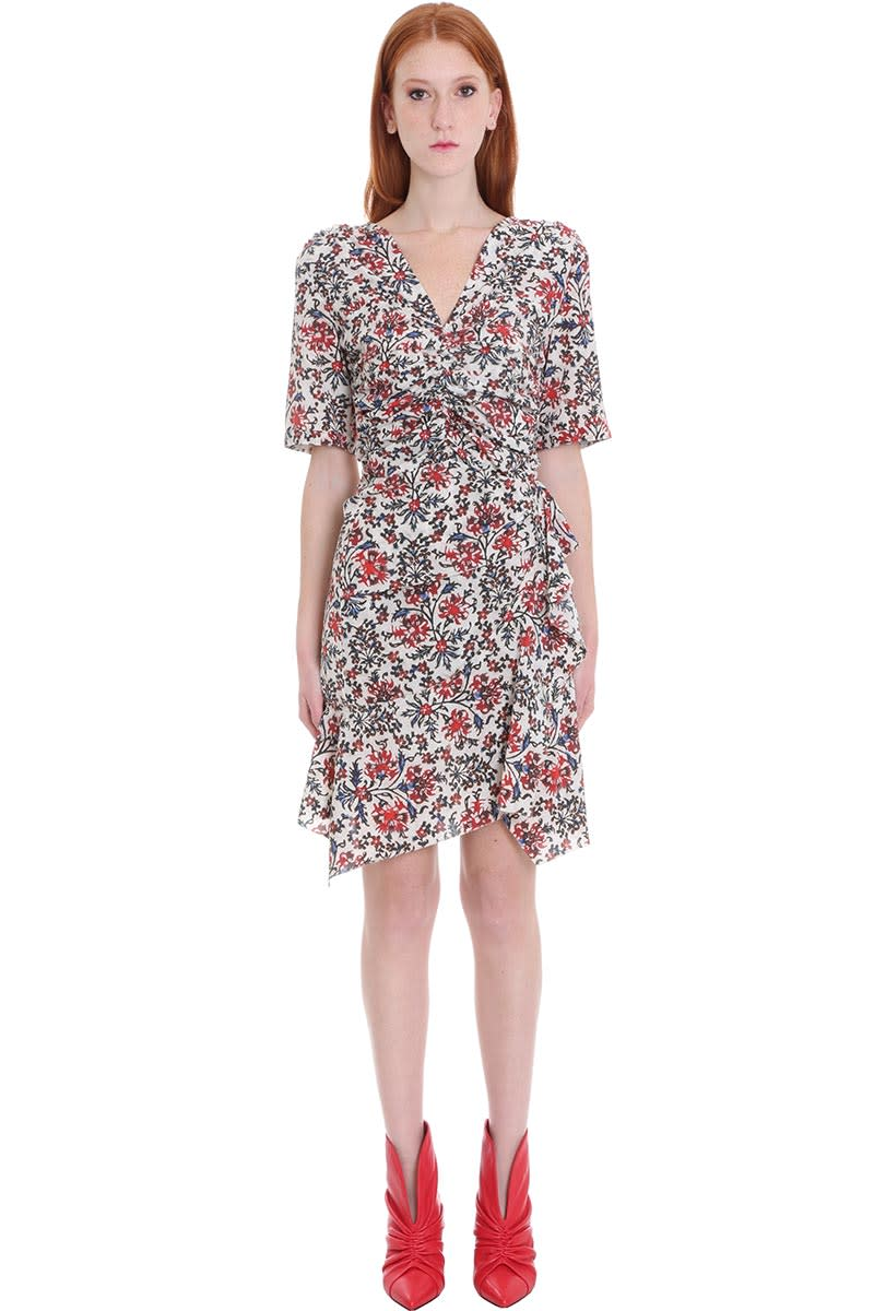 Buy Isabel Marant Arodie Dress In Red Silk online, shop Isabel Marant with free shipping