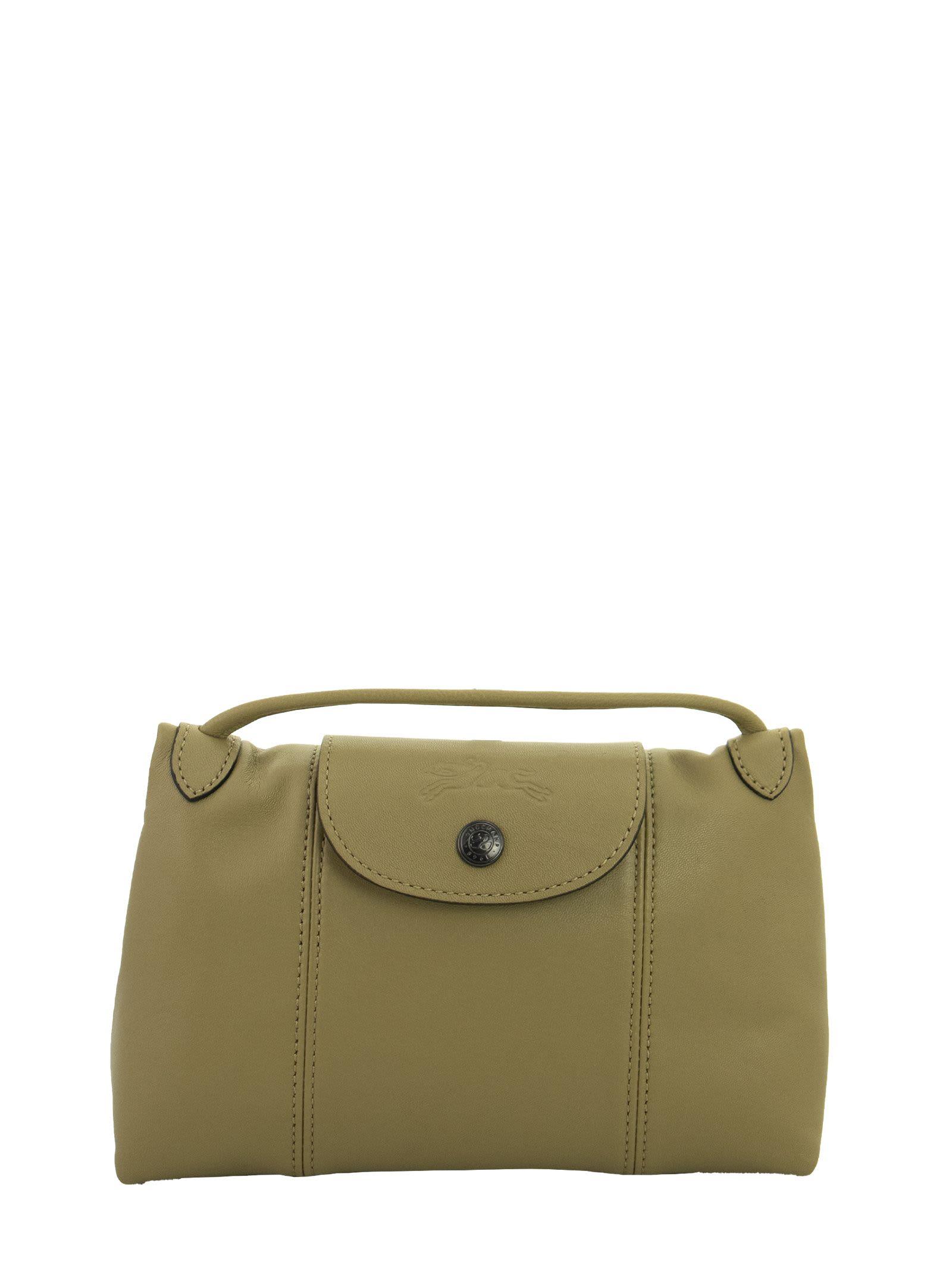 Le Pliage Cuir - Crossbody Bag In Khaki