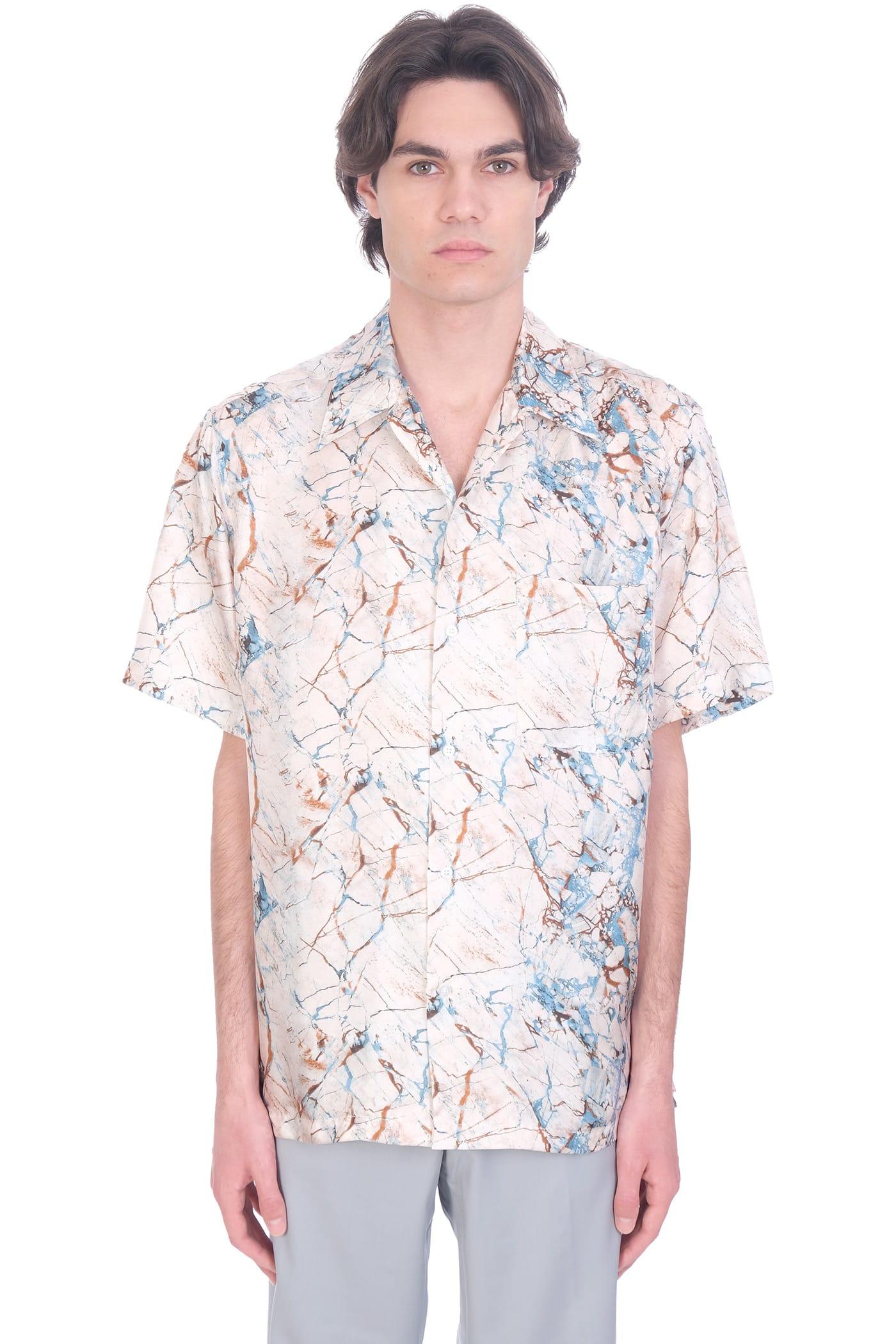 Erzin Shirt In Powder Silk