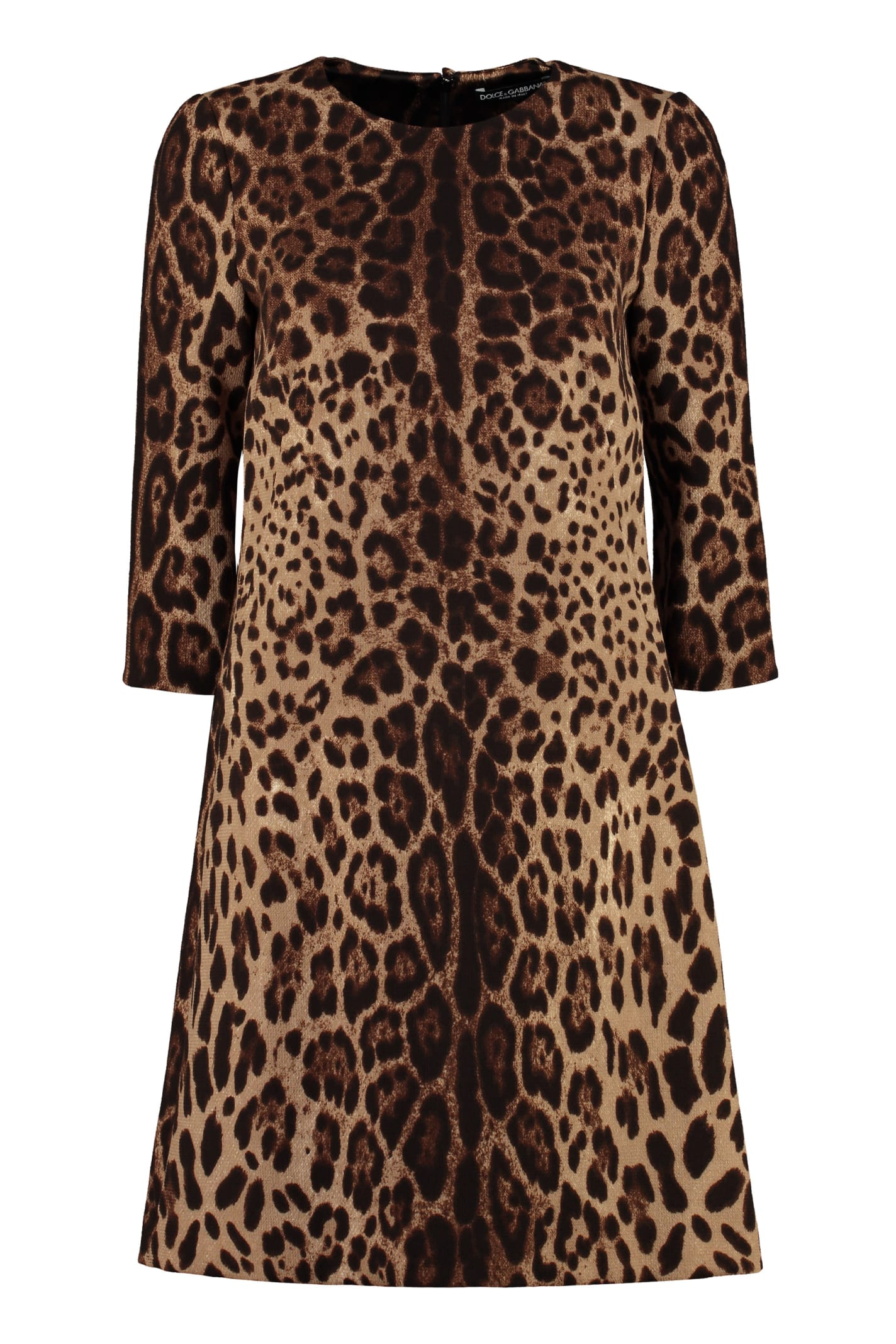 Dolce & Gabbana Printed Wool Dress