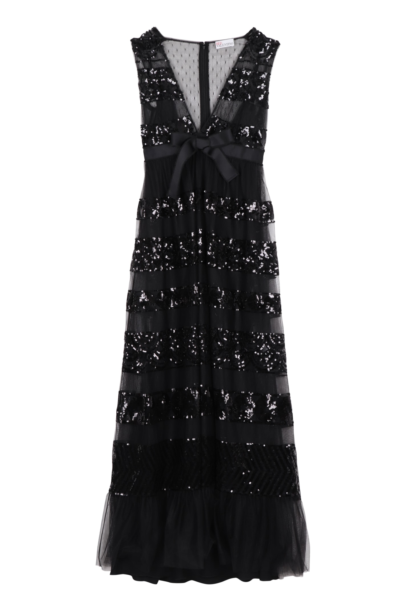 Buy RED Valentino Tulle Maxi Dress online, shop RED Valentino with free shipping