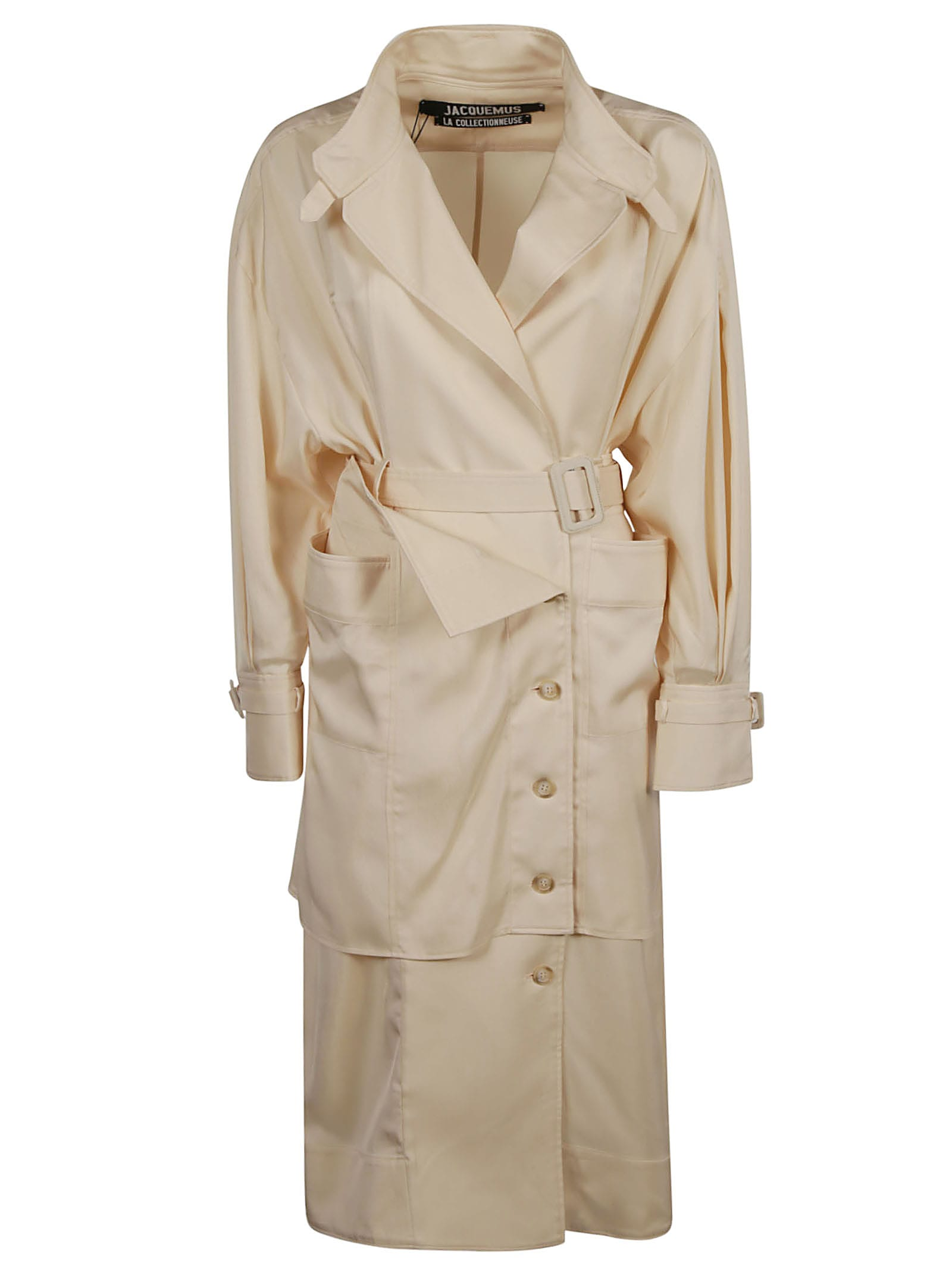 Jacquemus One-side Wrap Belted Trench
