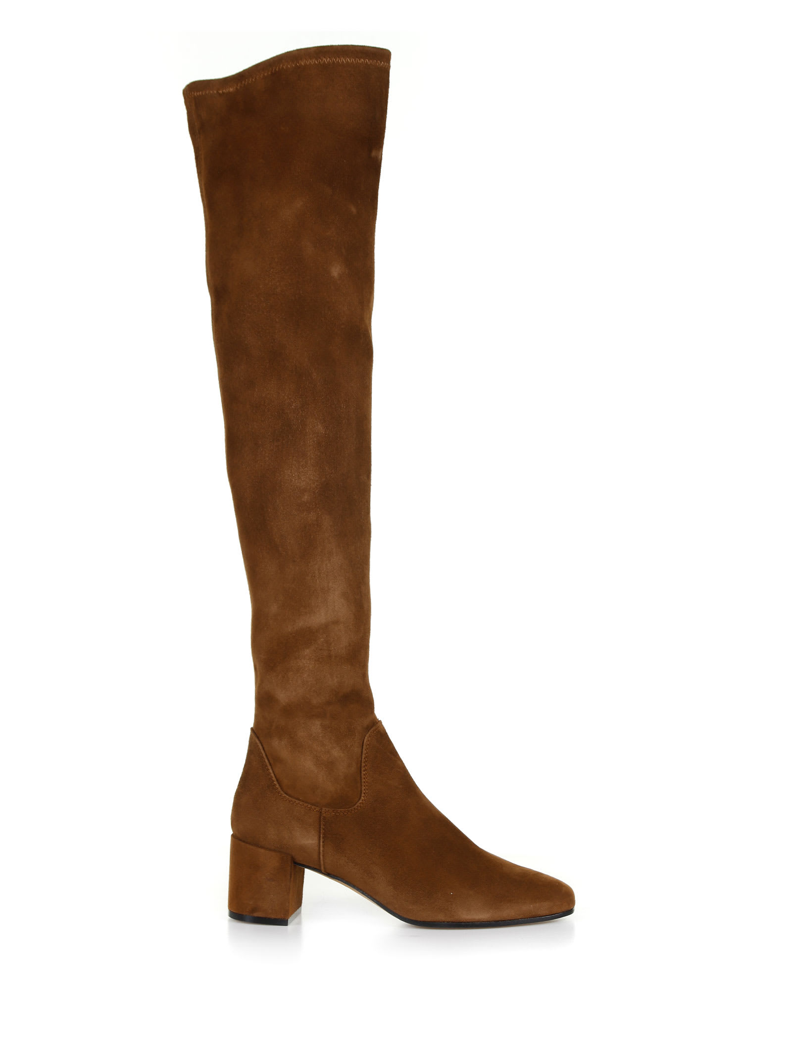 Roberto Festa Over The Knee Suede Boots In Coffee