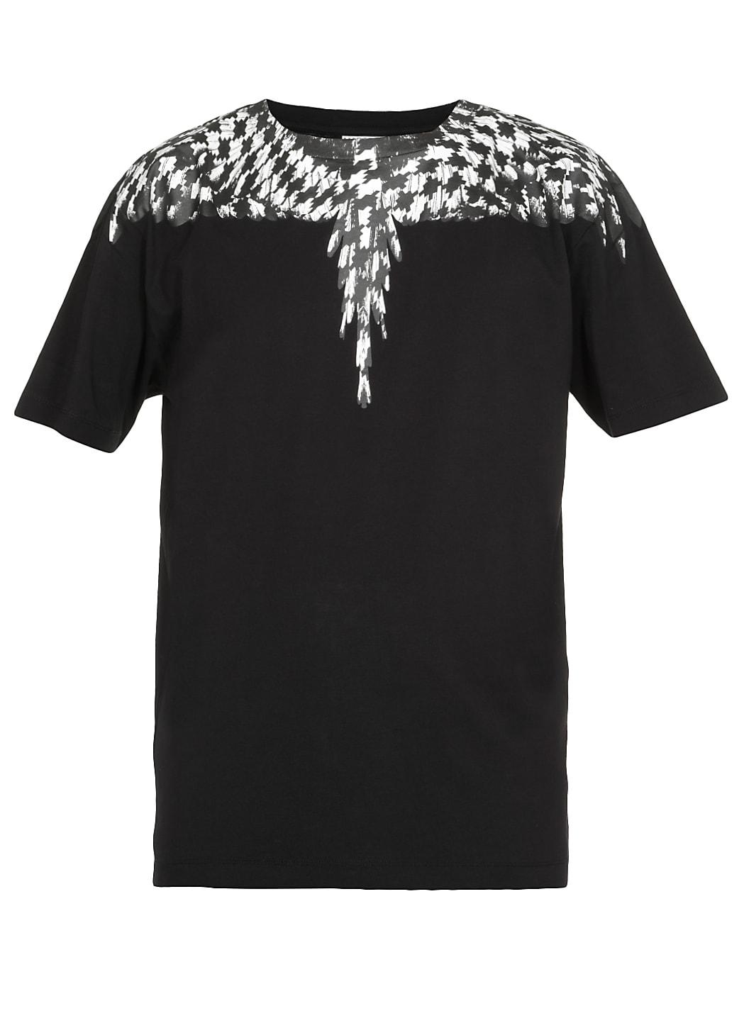 Marcelo Burlon Cross Pied De Poule Wingst-shirt