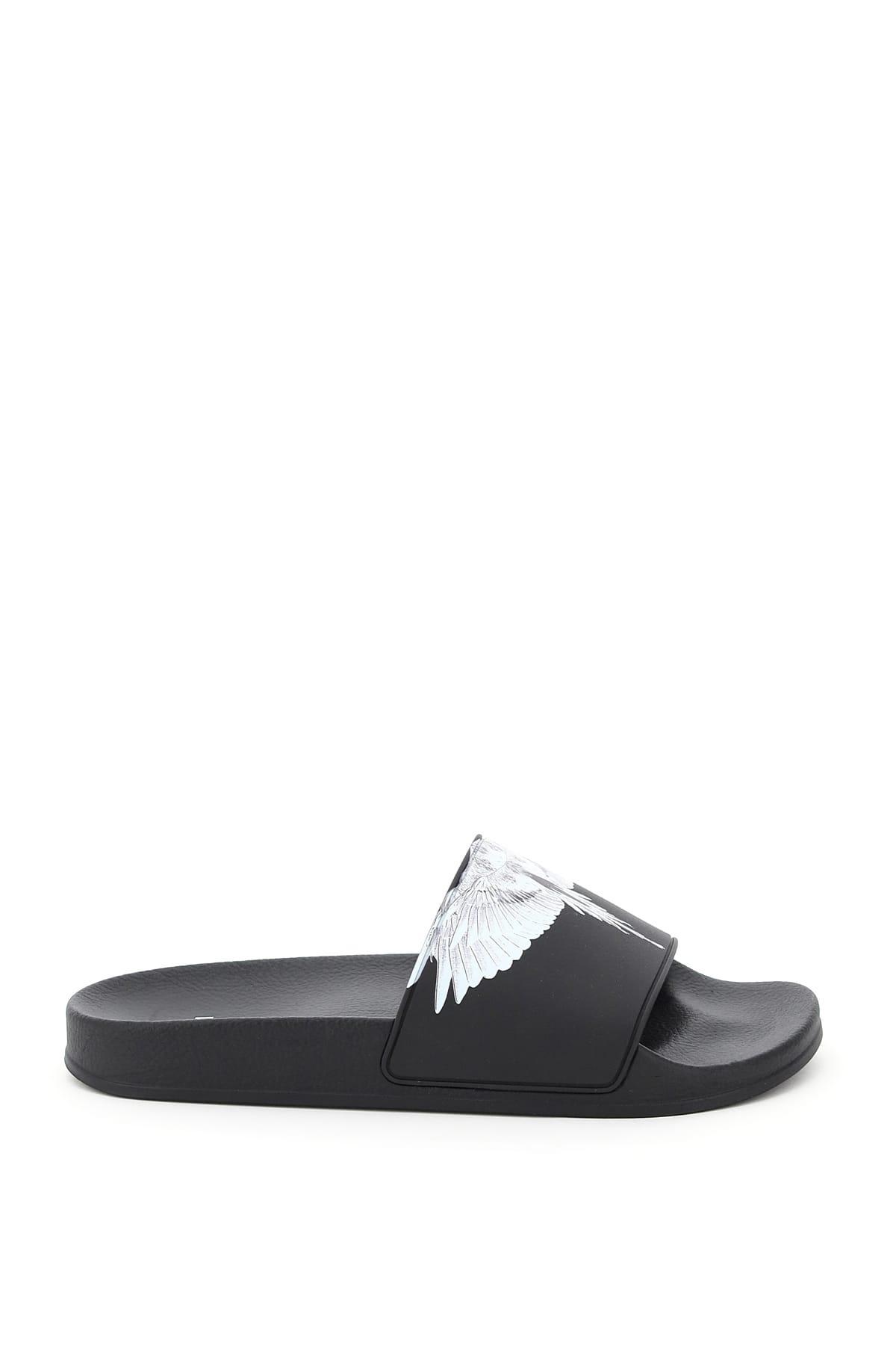Marcelo Burlon County Of Milan Shoes WINGS PRINT RUBBER SLIDES