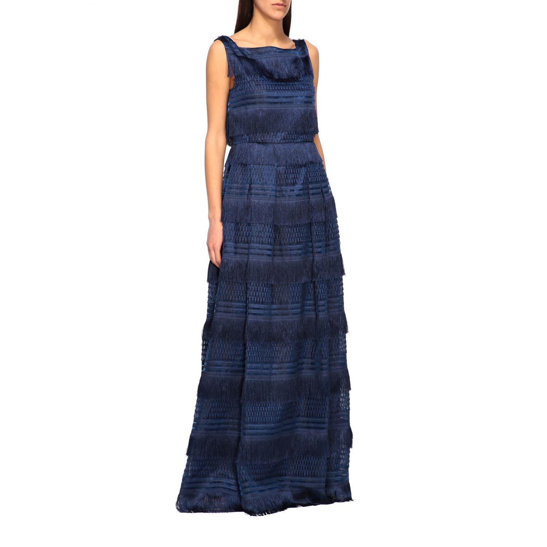 Buy Alberta Ferretti Dress Alberta Ferretti Maxi Dress With Fringes online, shop Alberta Ferretti with free shipping