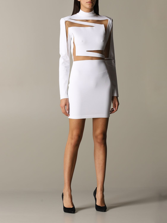 Buy Balmain Dress Balmain Laser-cut Dress online, shop Balmain with free shipping