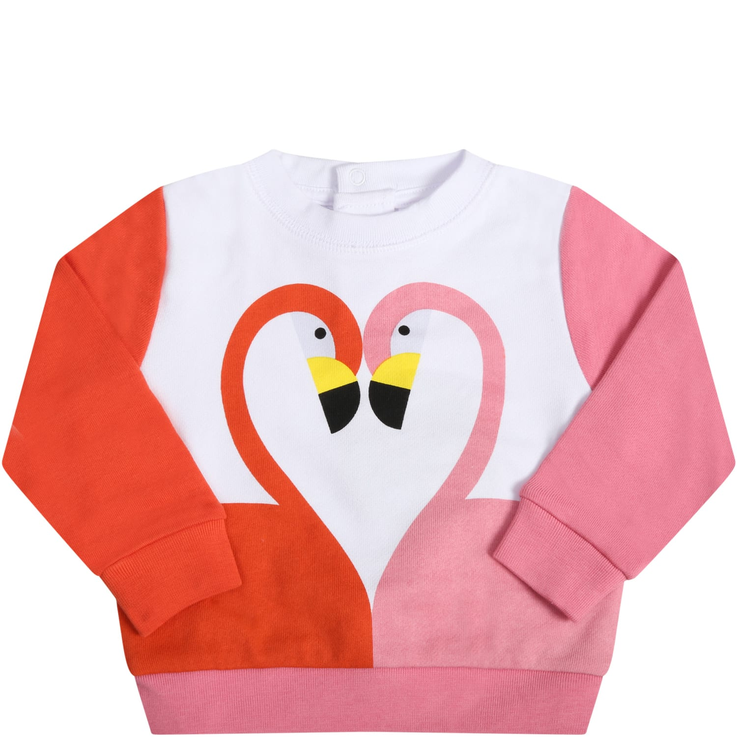 Stella Mccartney WHITE SWEATSHIRT FOR BABYGIRL WITH