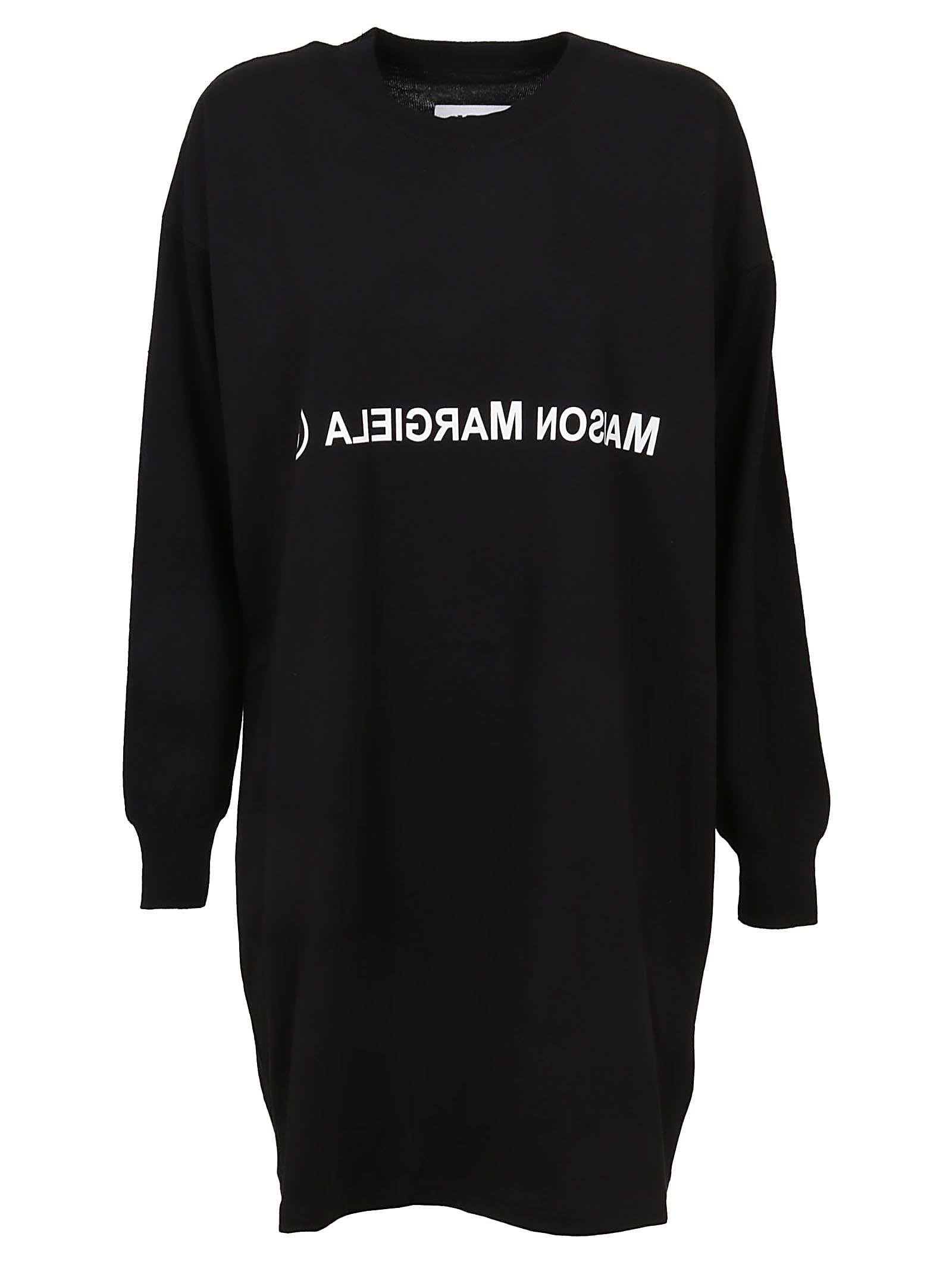 Black Cotton Dress & sweater