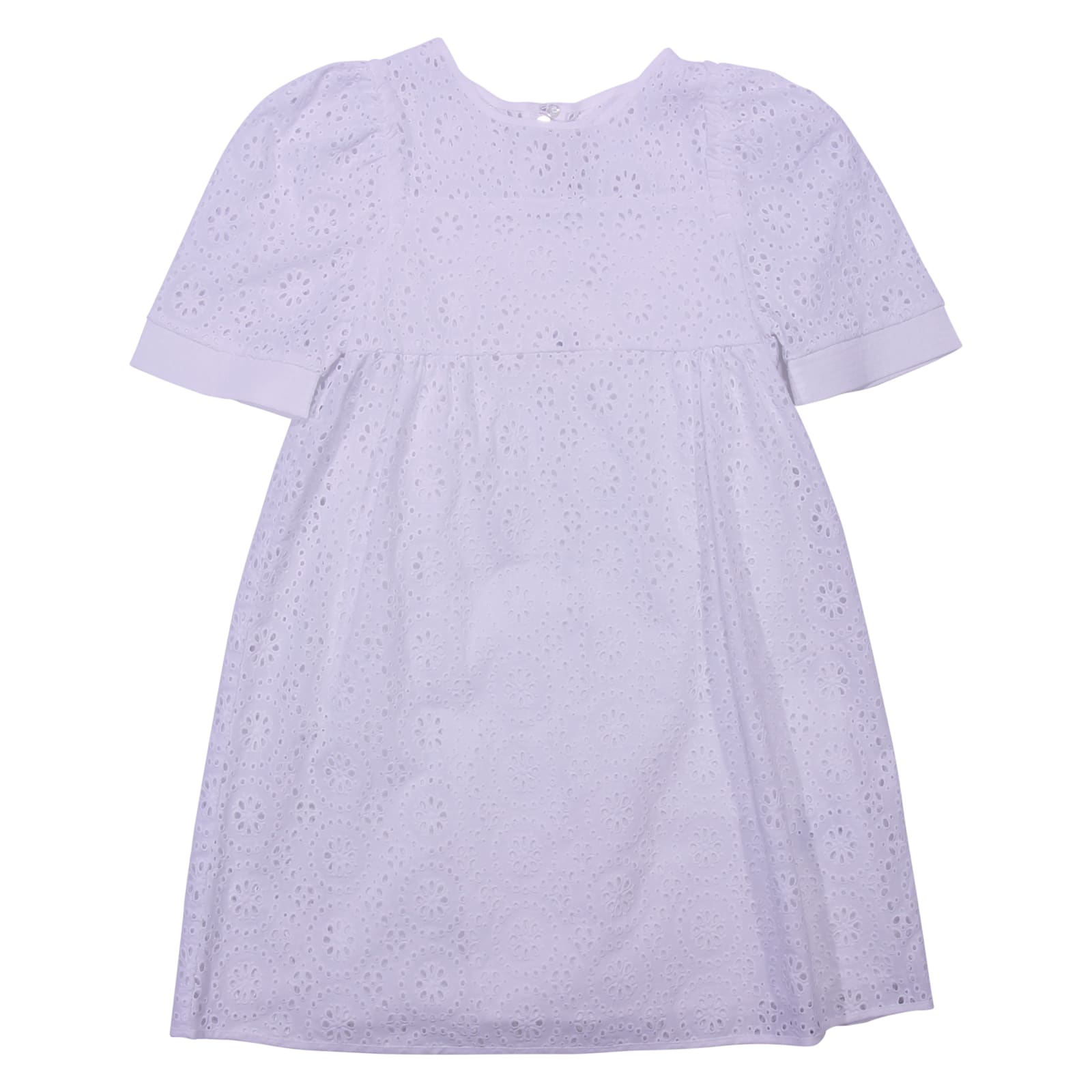 Chloé White Eyelet Cotton Lace Dress