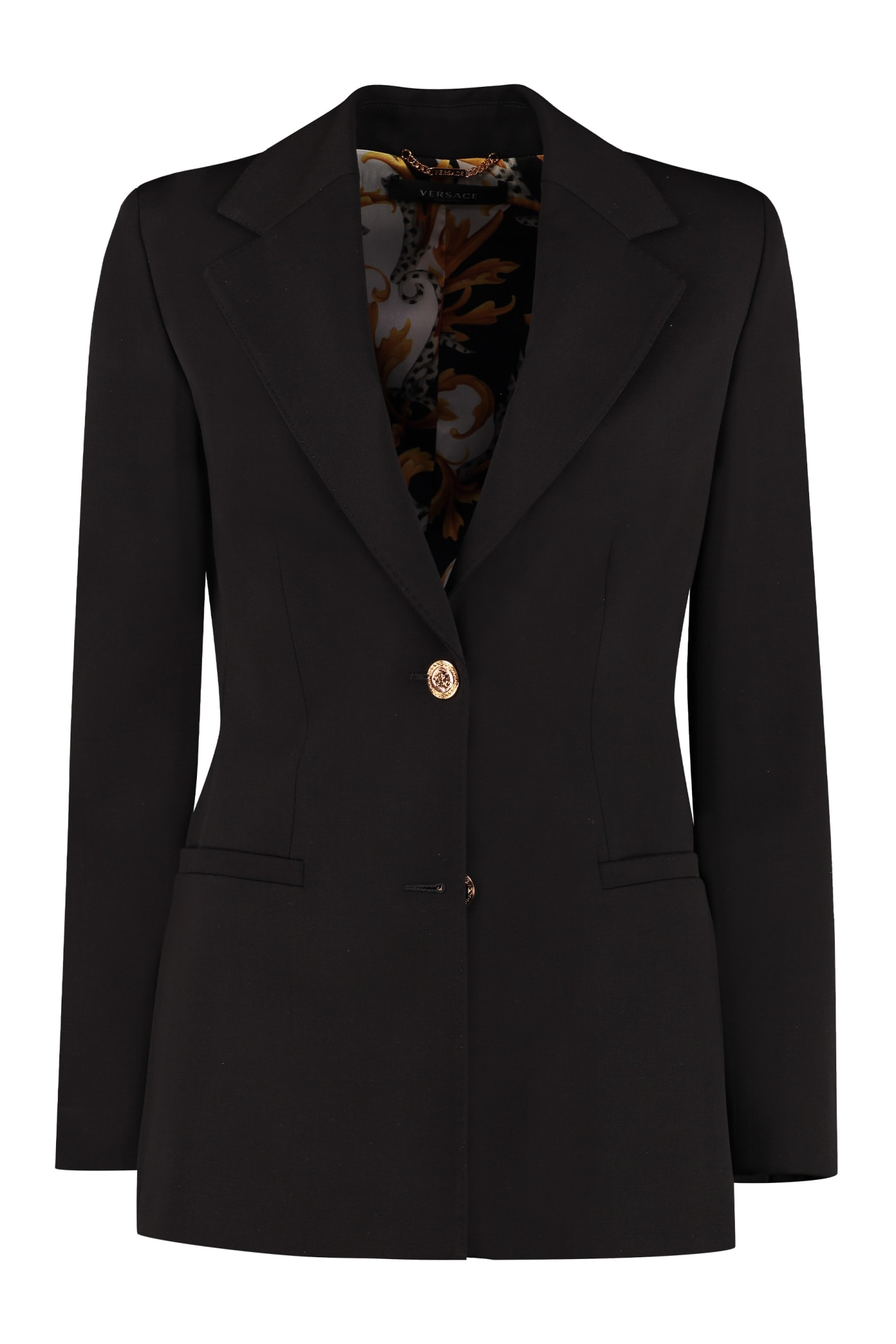 Versace GRANITE STRETCH WOOL BLAZER