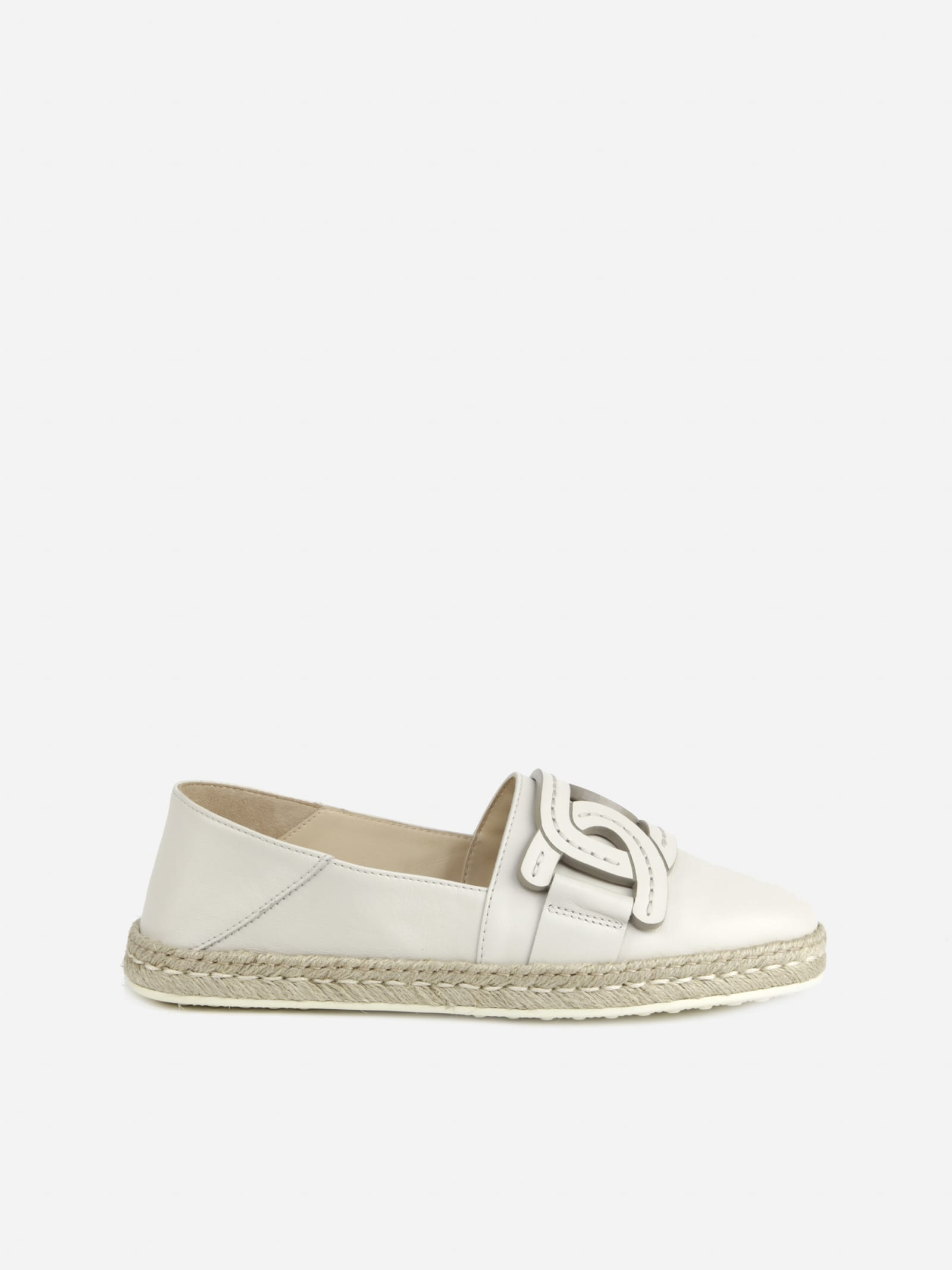 Tod's Leathers SLIP-ON WITH CHAIN DETAIL IN TONE-ON-TONE LEATHER