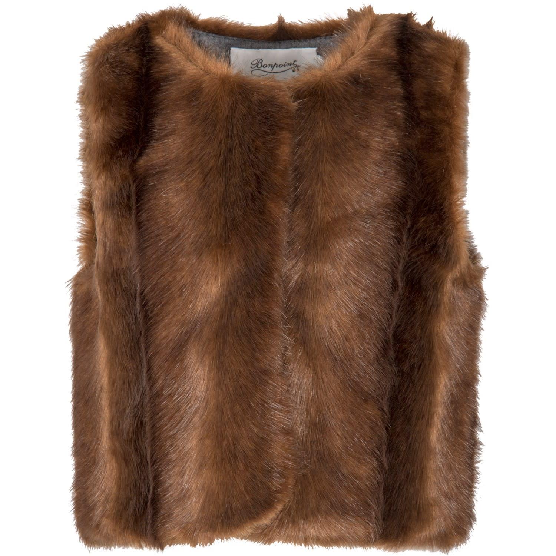 Brown Vest For Babygirl