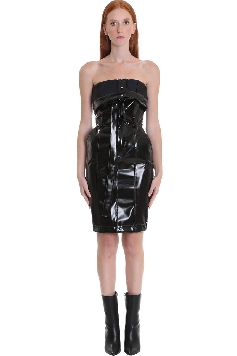 Ben Taverniti Unravel Project Dress In Black Pvc