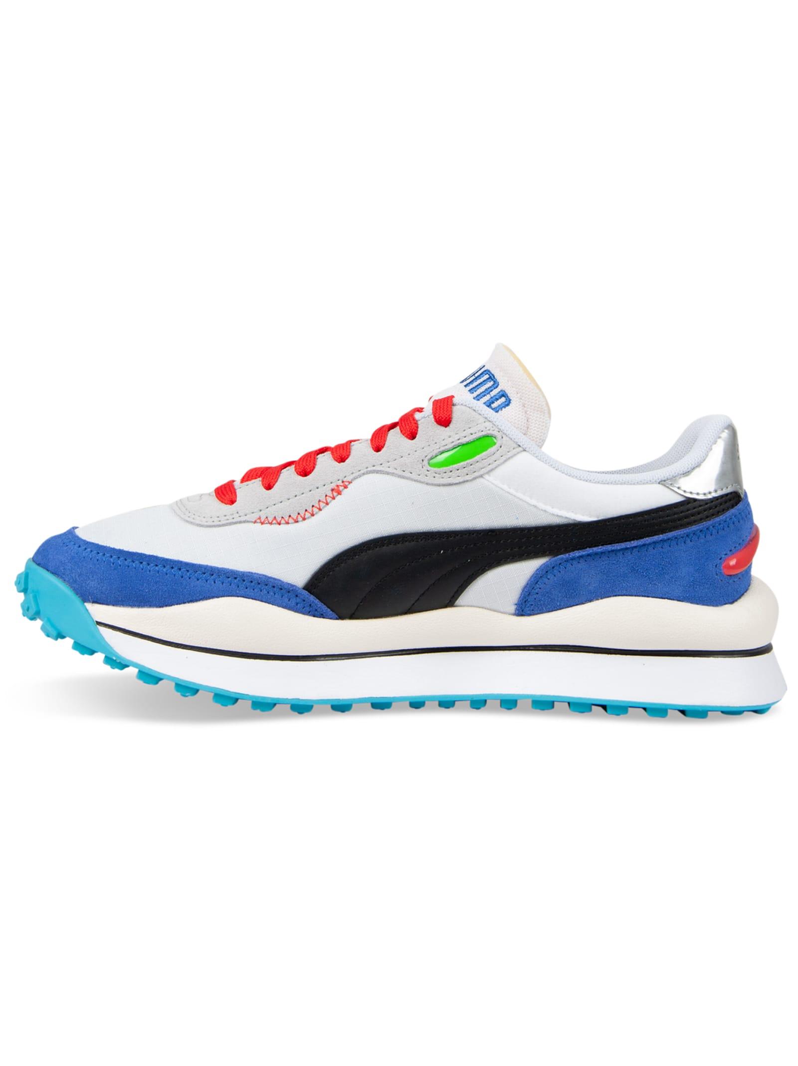 puma bianco blu sneakers