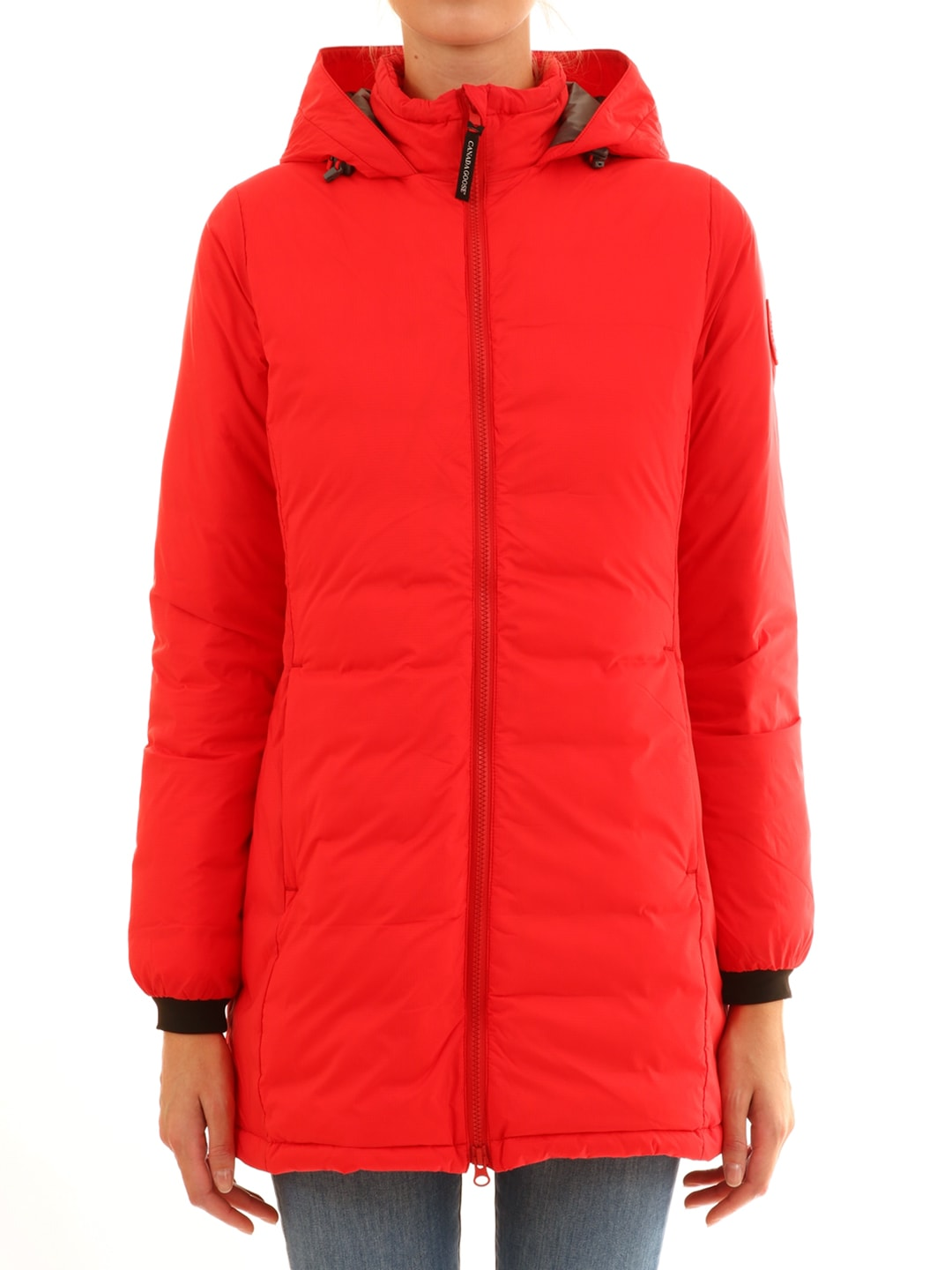 Photo of  Canada Goose Long Down Jacket Red- shop Canada Goose jackets online sales