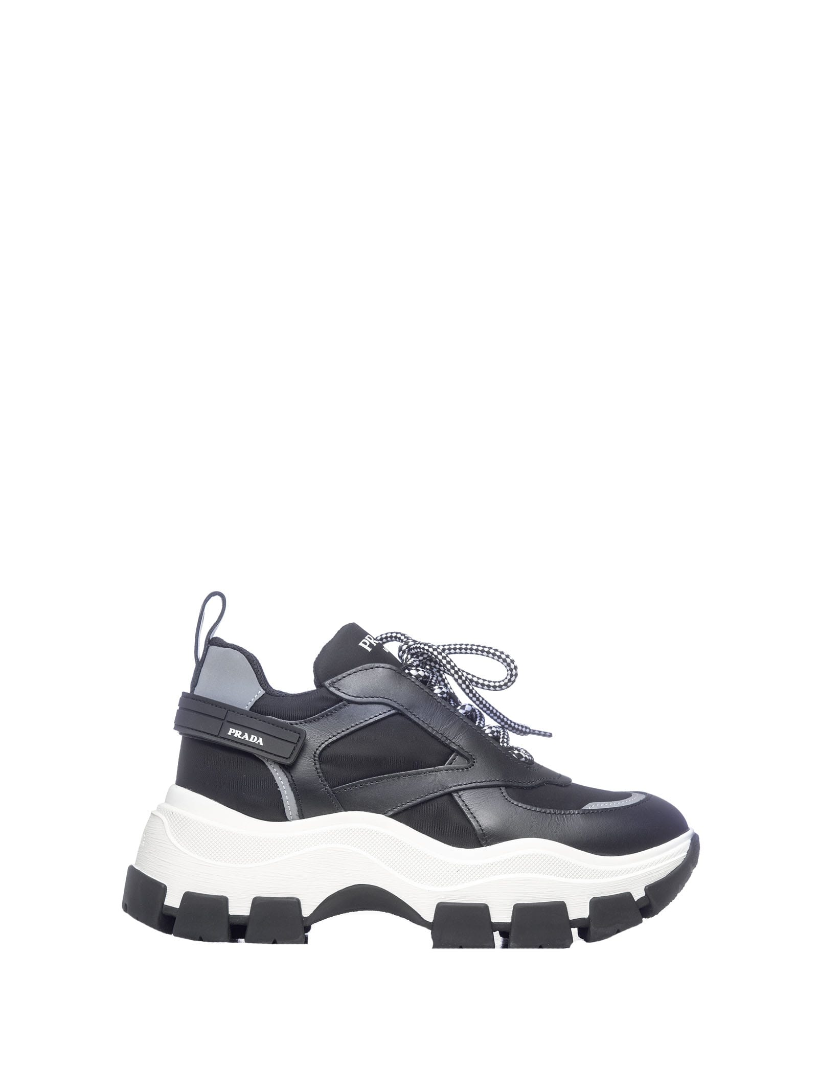 low priced 9045a 38bea Best price on the market at italist | Prada Prada Prada Chuncky Sole  Sneakers