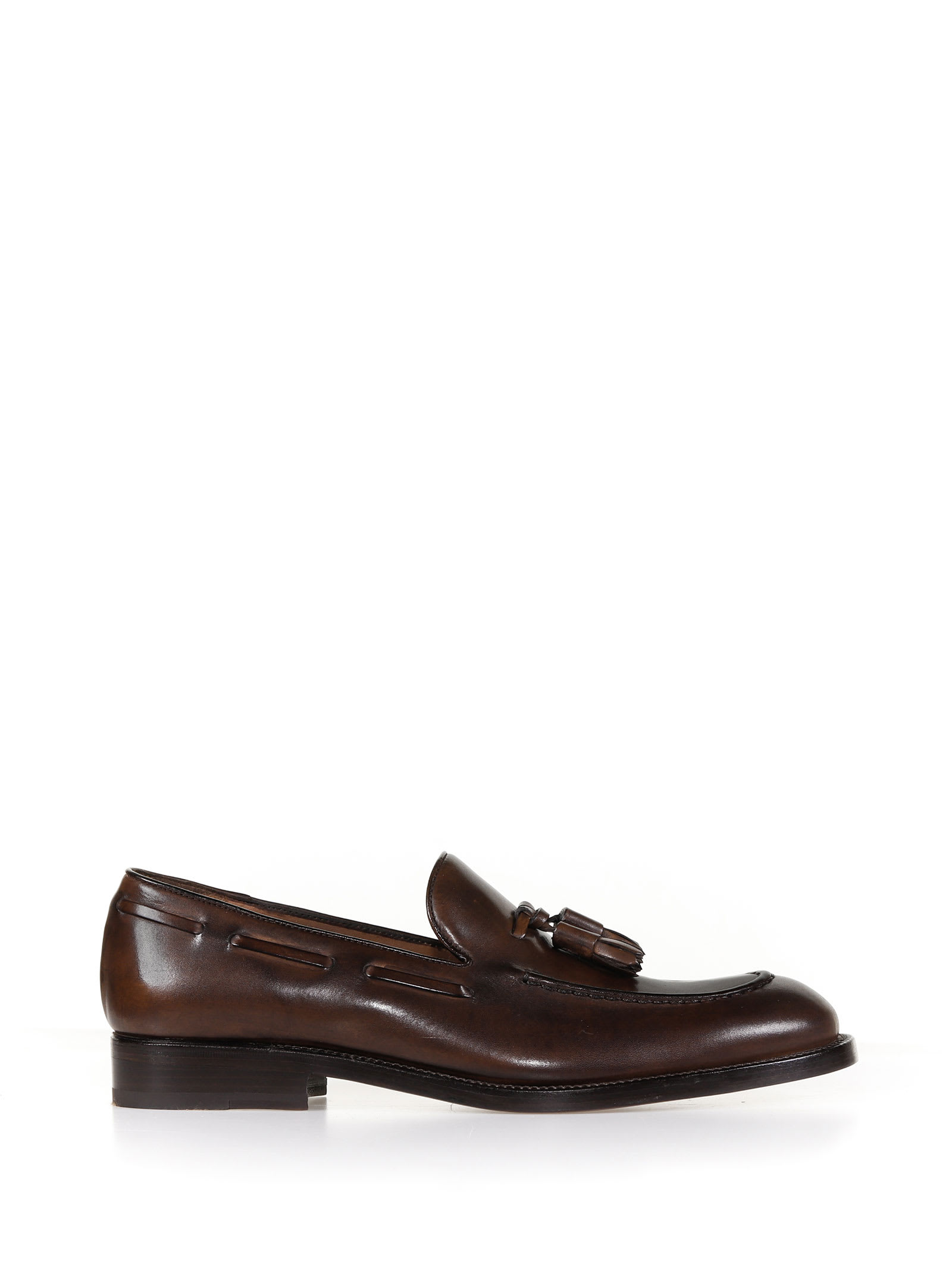 Loafer With Tassels In Leather
