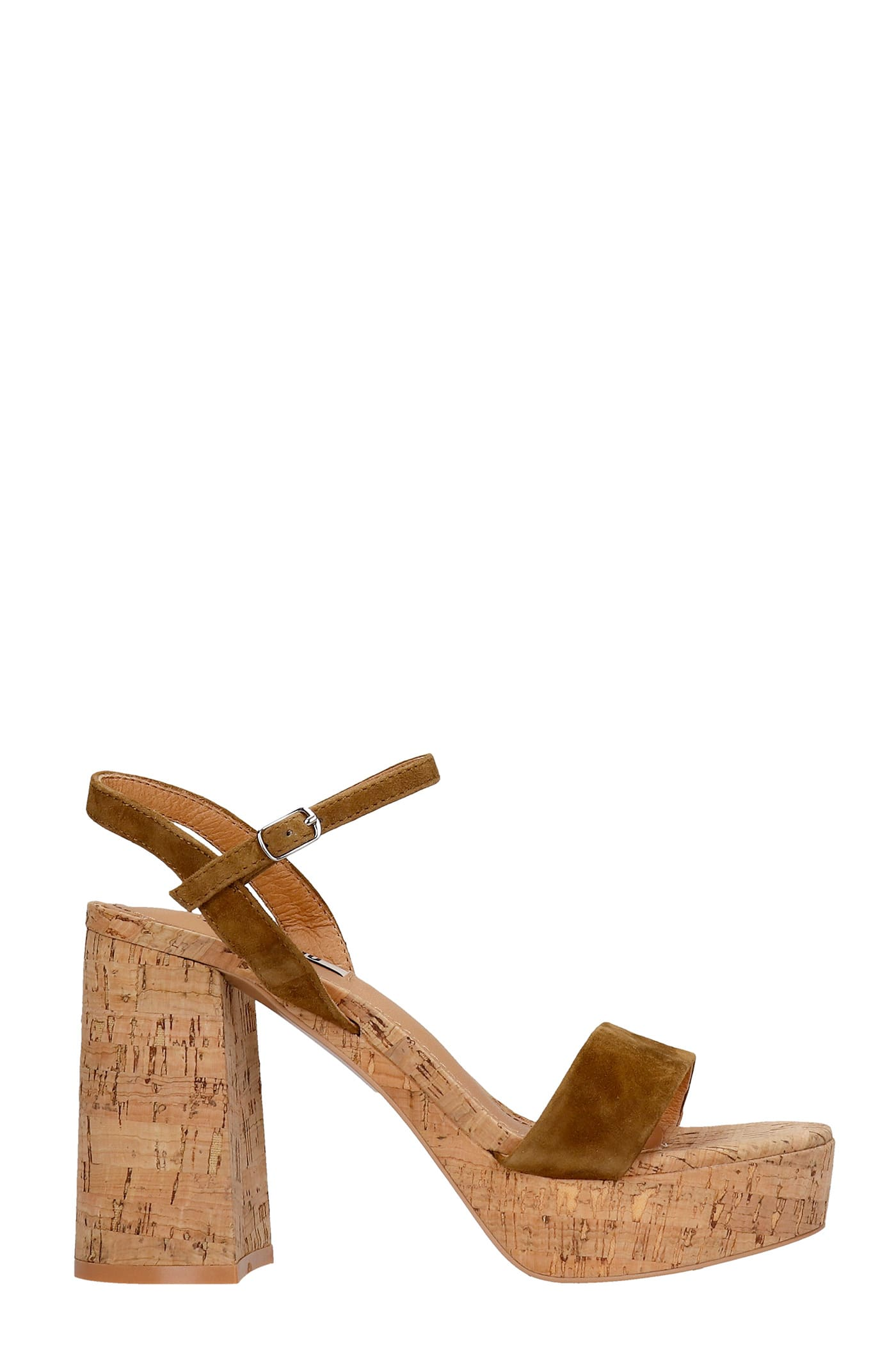 Sandals In Leather Color Suede